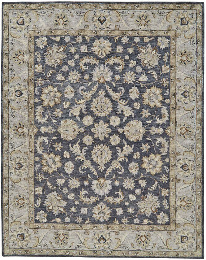 Barrview Hand-Tufted Wool Charcoal Area Rug Rug Size: Rectangle 3'6