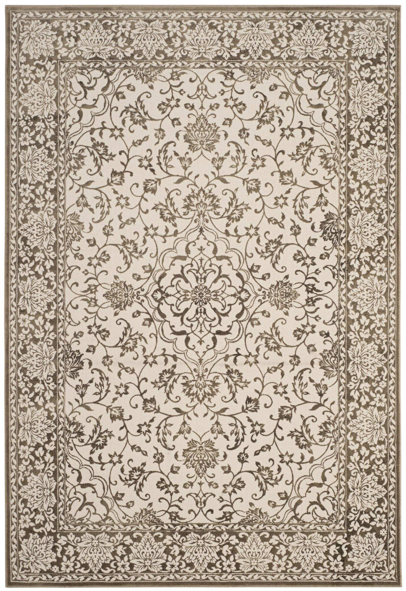 Forestburgh Brown/Cream Area Rug Rug Size: Rectangle 5'1