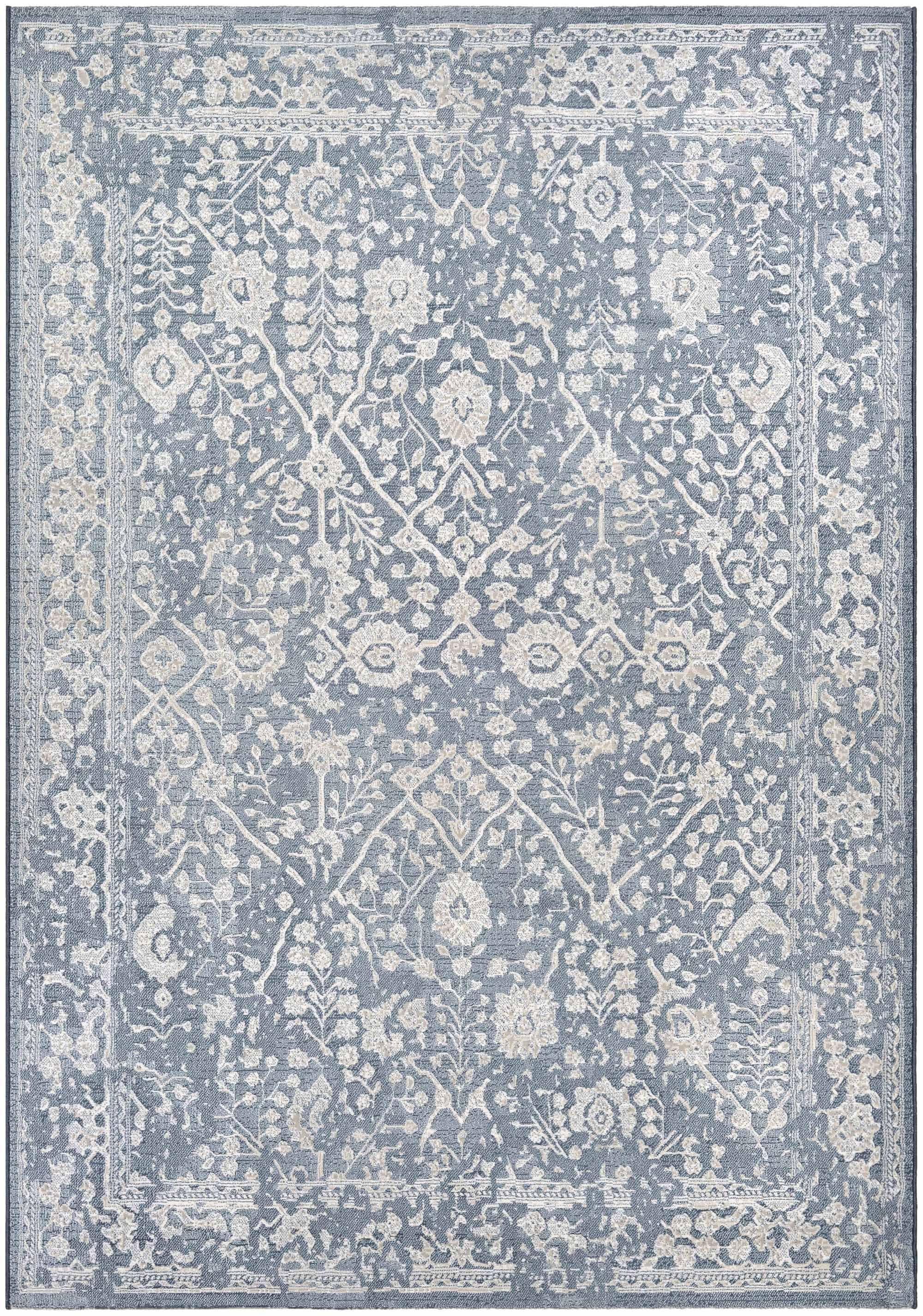 Elise Slate Blue/Oyster Area Rug Rug Size: Rectangle 3'11