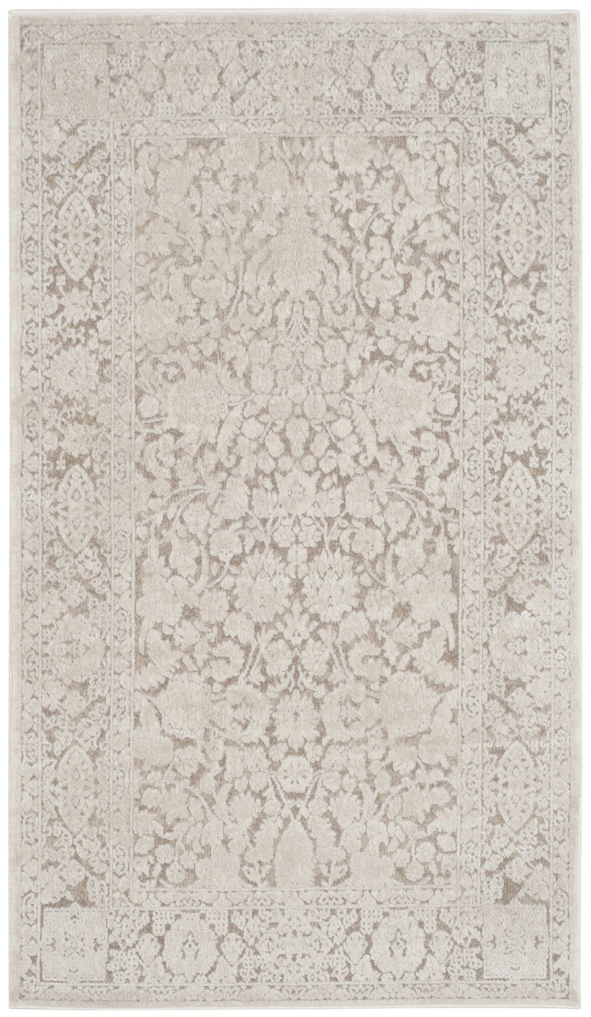 Pellot Beige/Cream Area Rug Rug Size: Rectangle 8' x 10'