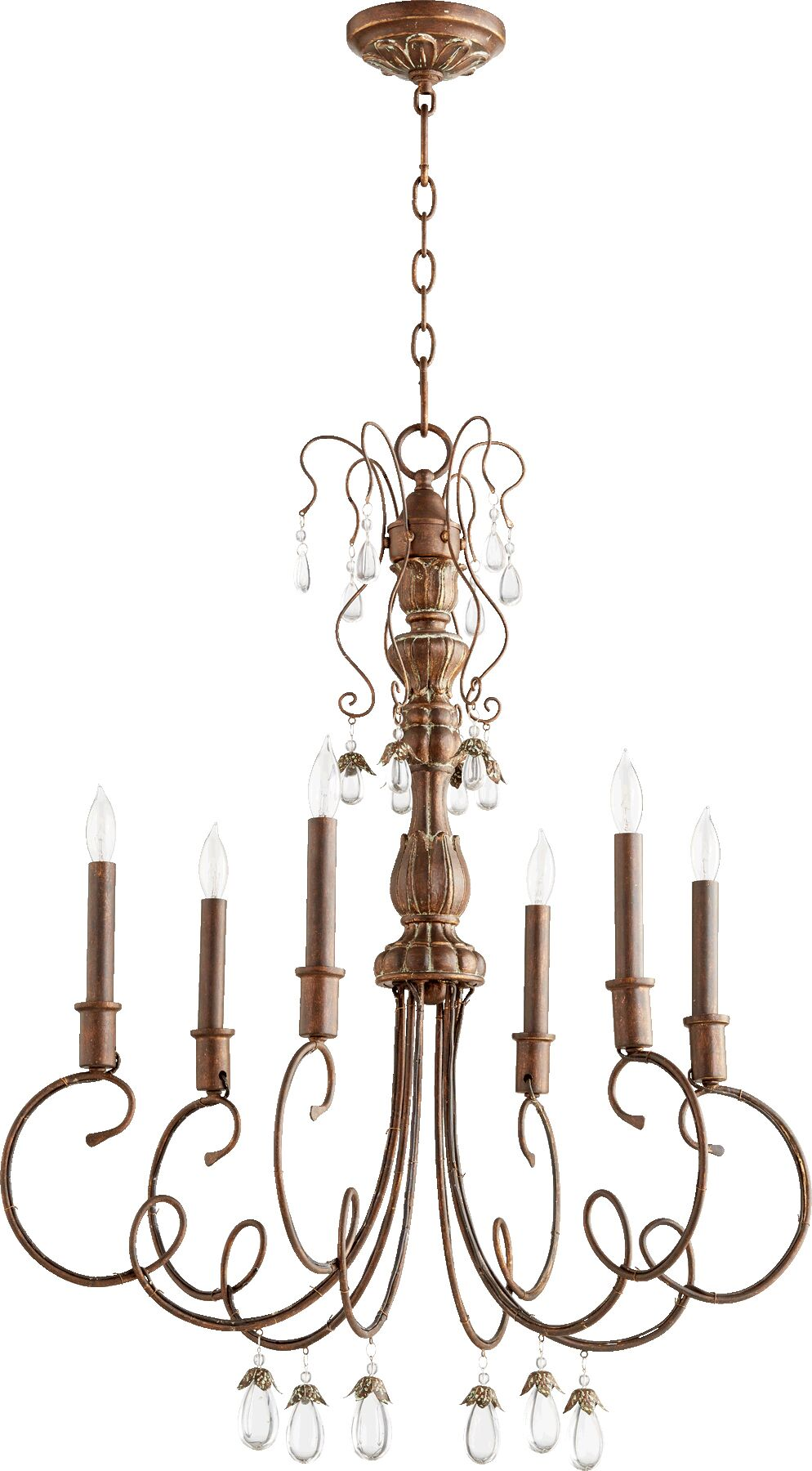 Jaune 6-Light Chandelier Finish: Vintage Copper