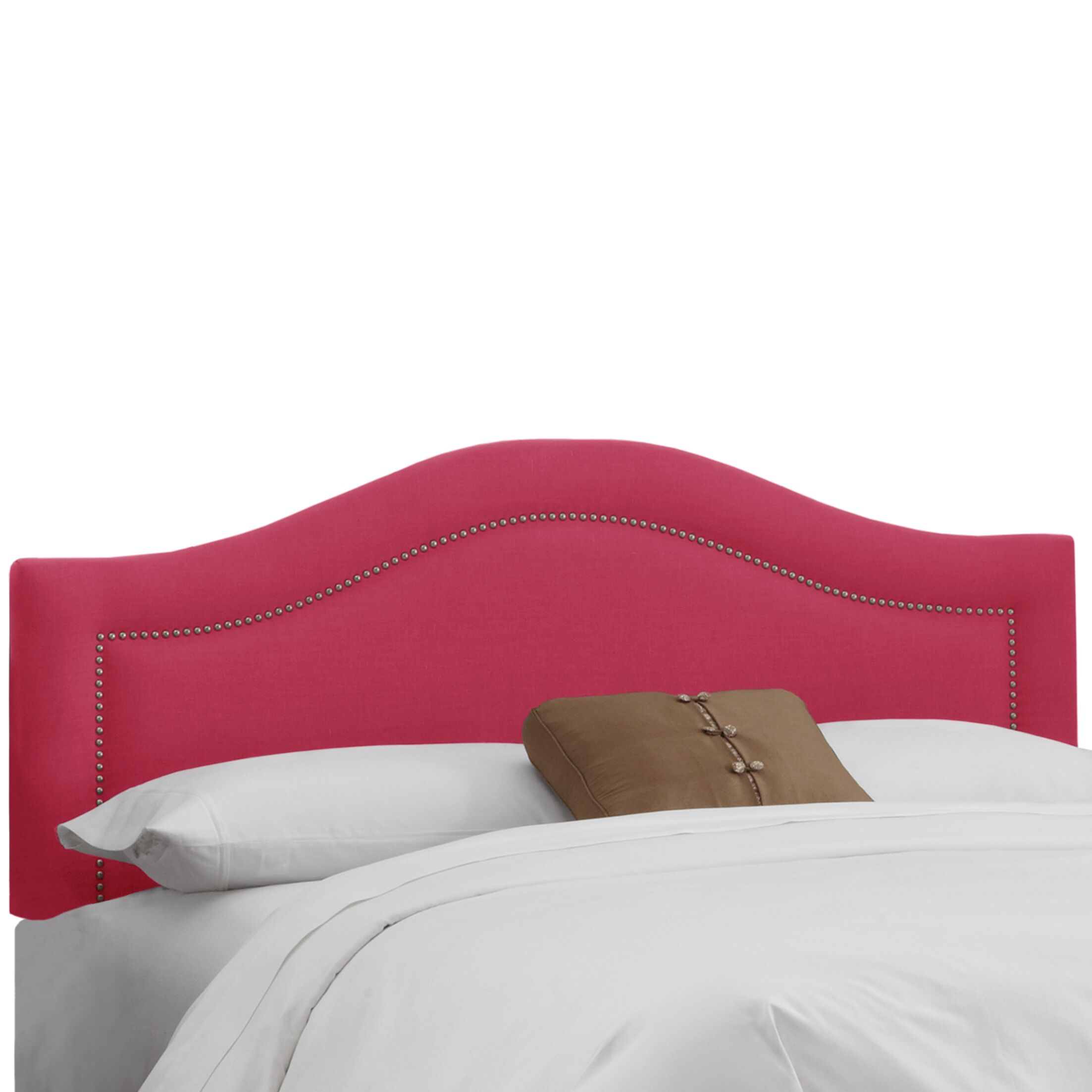 Ophiuchi Upholstered Panel Headboard Size: King, Upholstery: Fuchsia