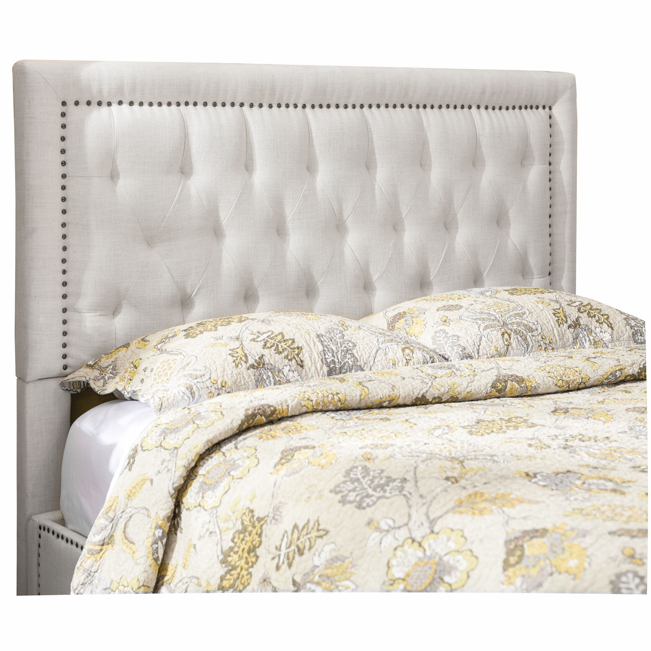 Djibril Square Upholstered Panel Headboard Upholstery: Cotton, Size: California King
