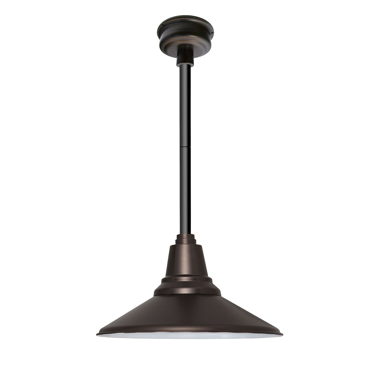 Calla 1-Light  LED Cone Pendant Finish: Black, Size: 48