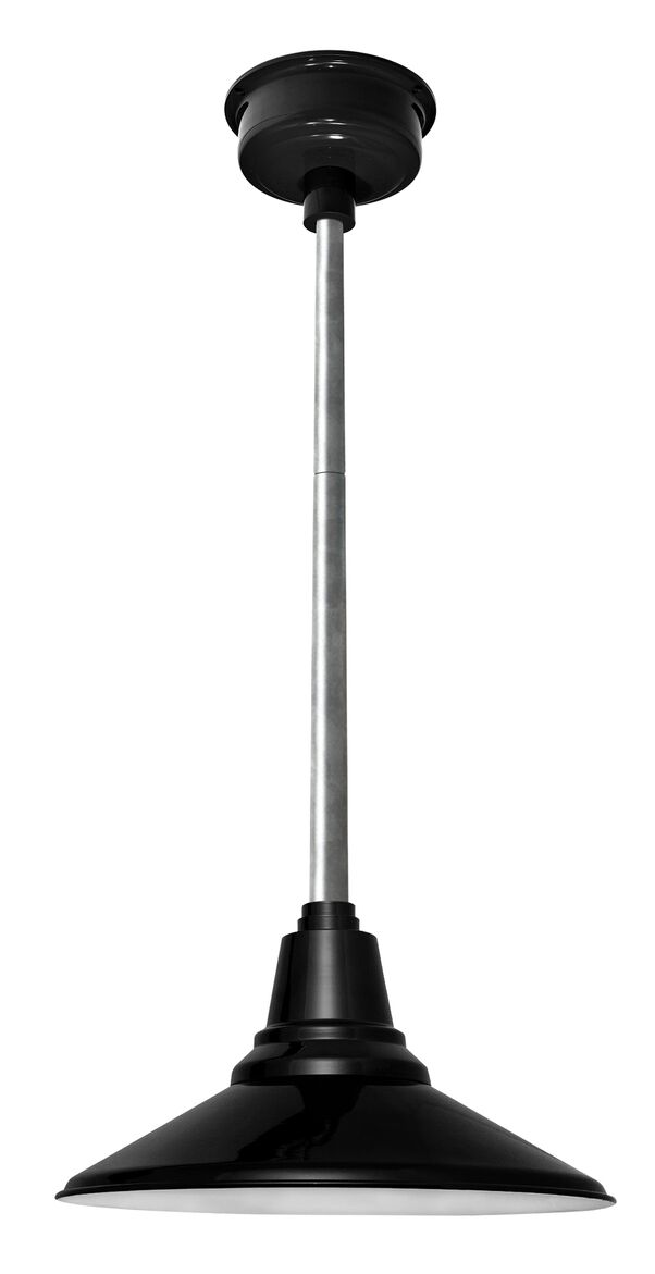 Calla 1-Light  LED Cone Pendant Finish: Black, Size: 48