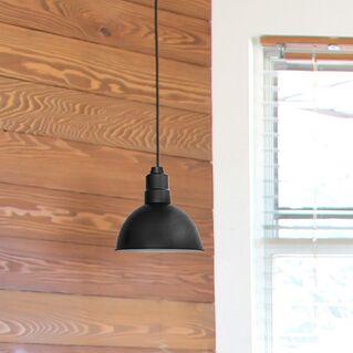 Peony Blackspot  LED Cone Pendant Finish: Matte Black, Size: 72