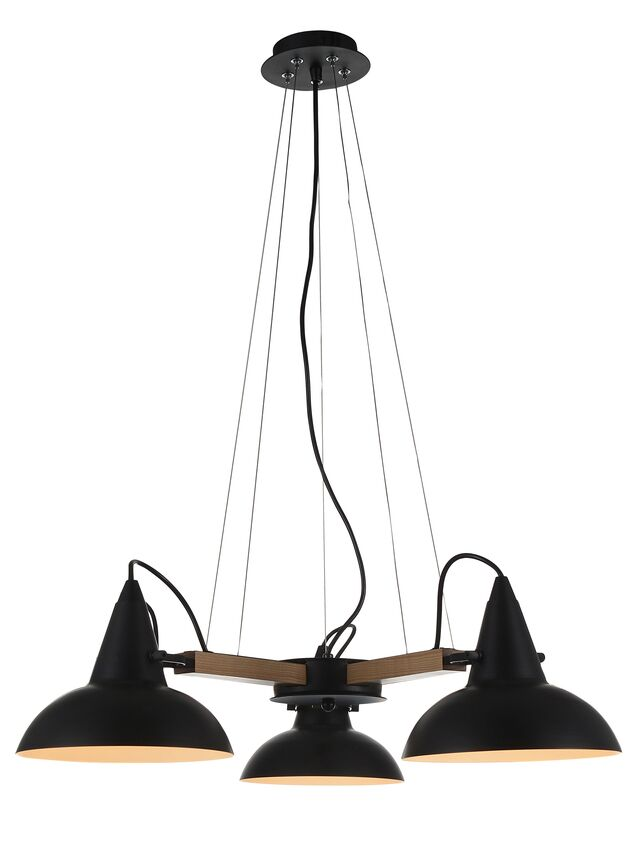 Amatrice 3-Light  LED Shaded Chandelier Finish: Black