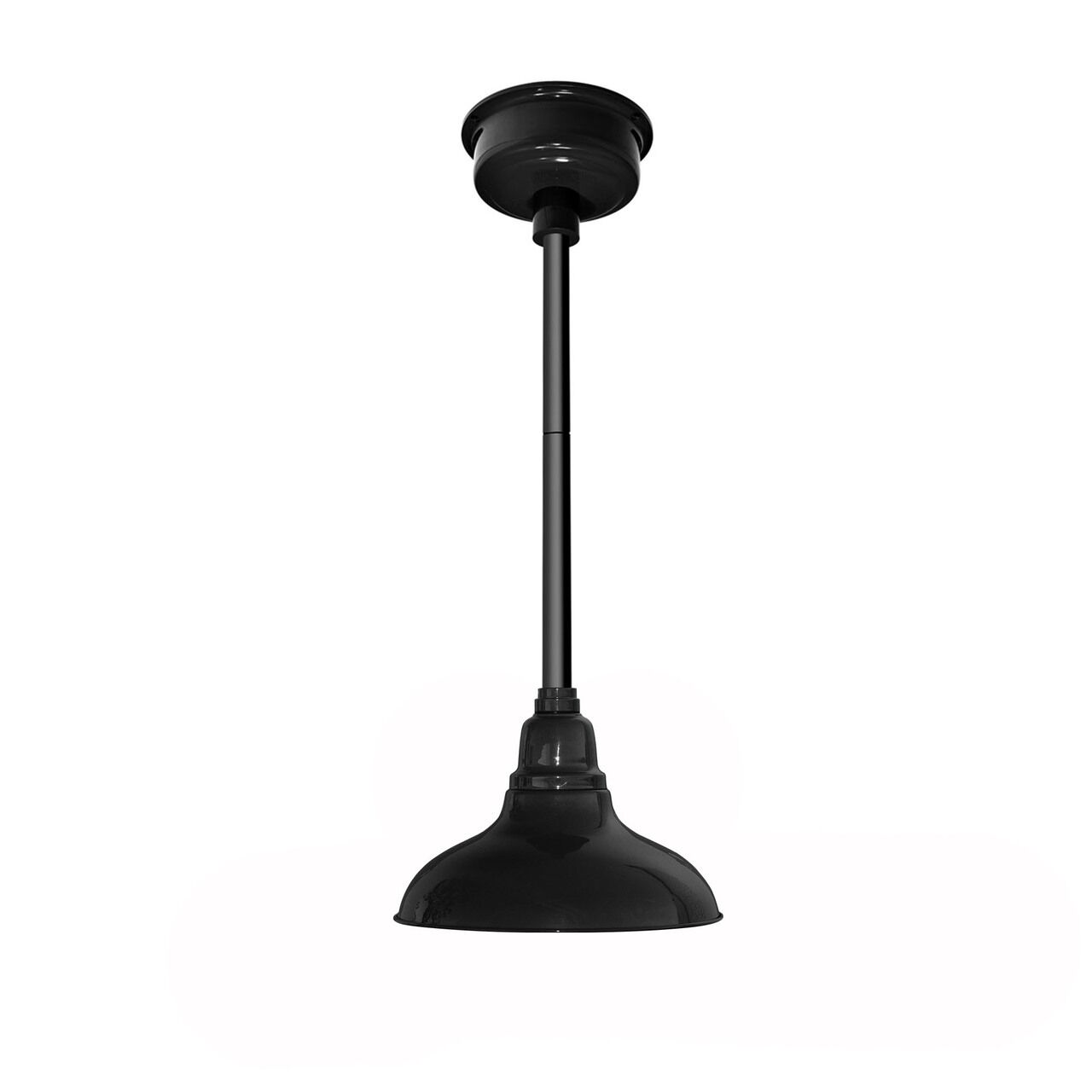 Idella Steel 1-Light  LED Dome Pendant Finish: Cobalt Blue with Black Downrod, Size: 9