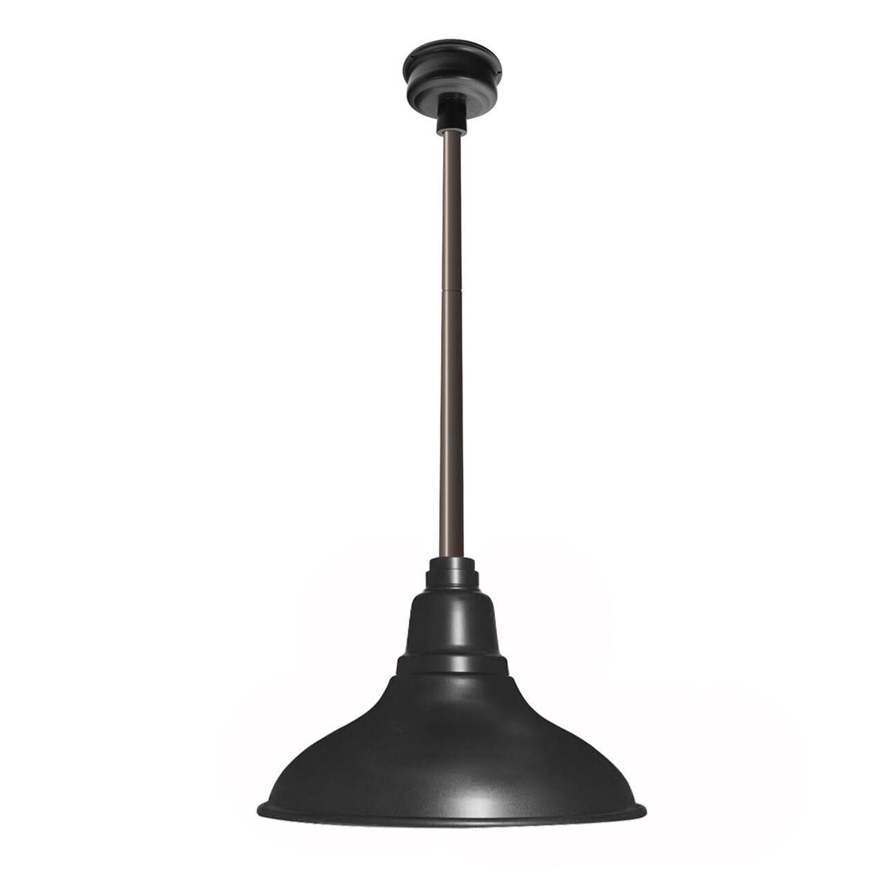 Idella Outdoor 1-Light  LED Dome Pendant Finish: Matte Black with Mahogany Bronze Downrod, Size: 9