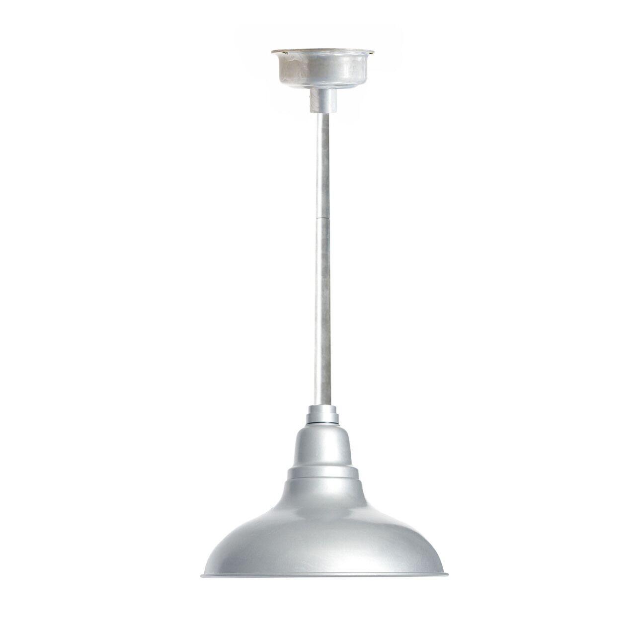 Idella 1-Light  LED Dome Pendant Finish: Black with Galvanized Silver Downrod, Size: 9