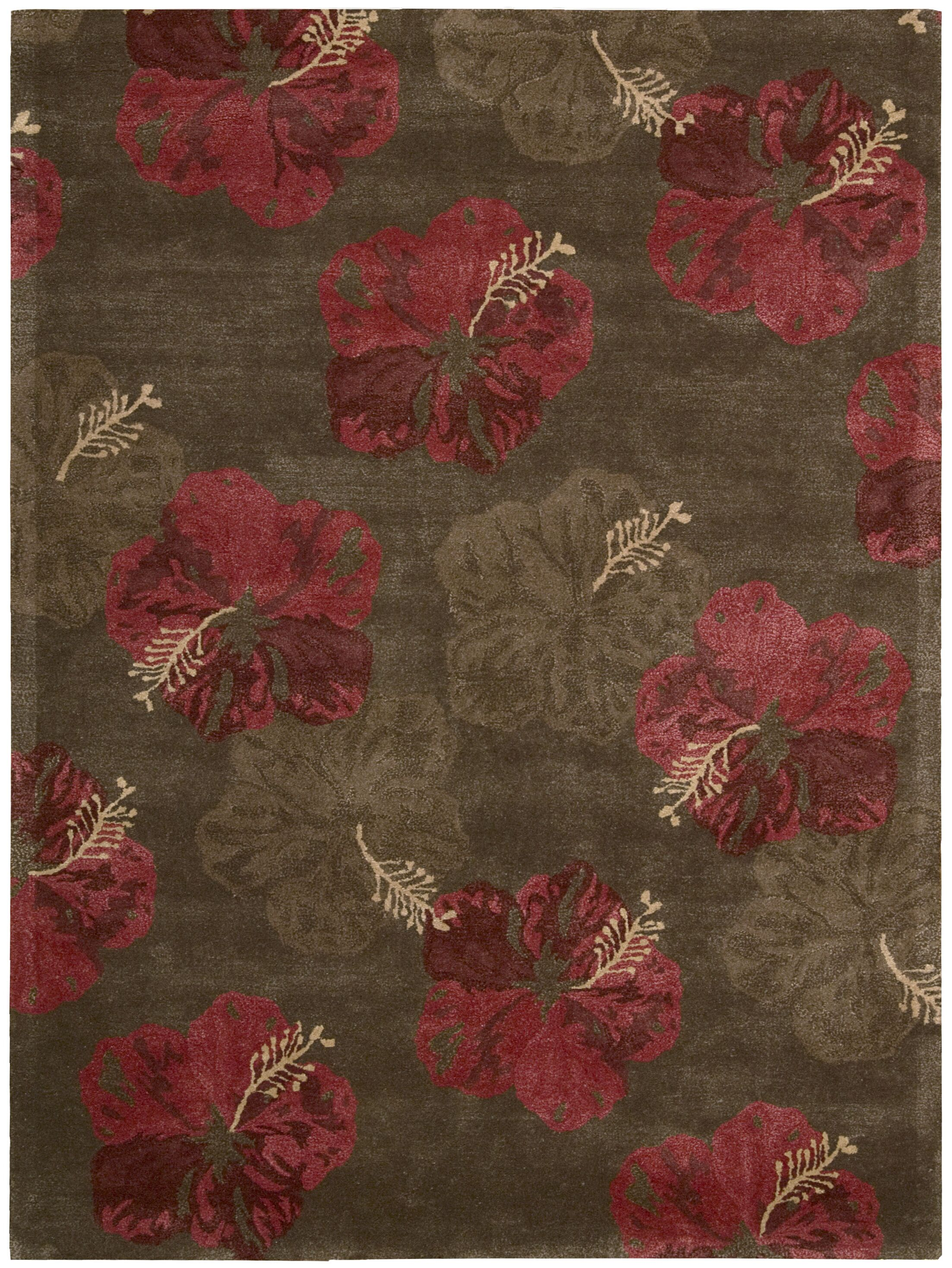 Sanjeev Hand-Woven Chocolate/Red Area Rug Rug Size: Runner 2'3
