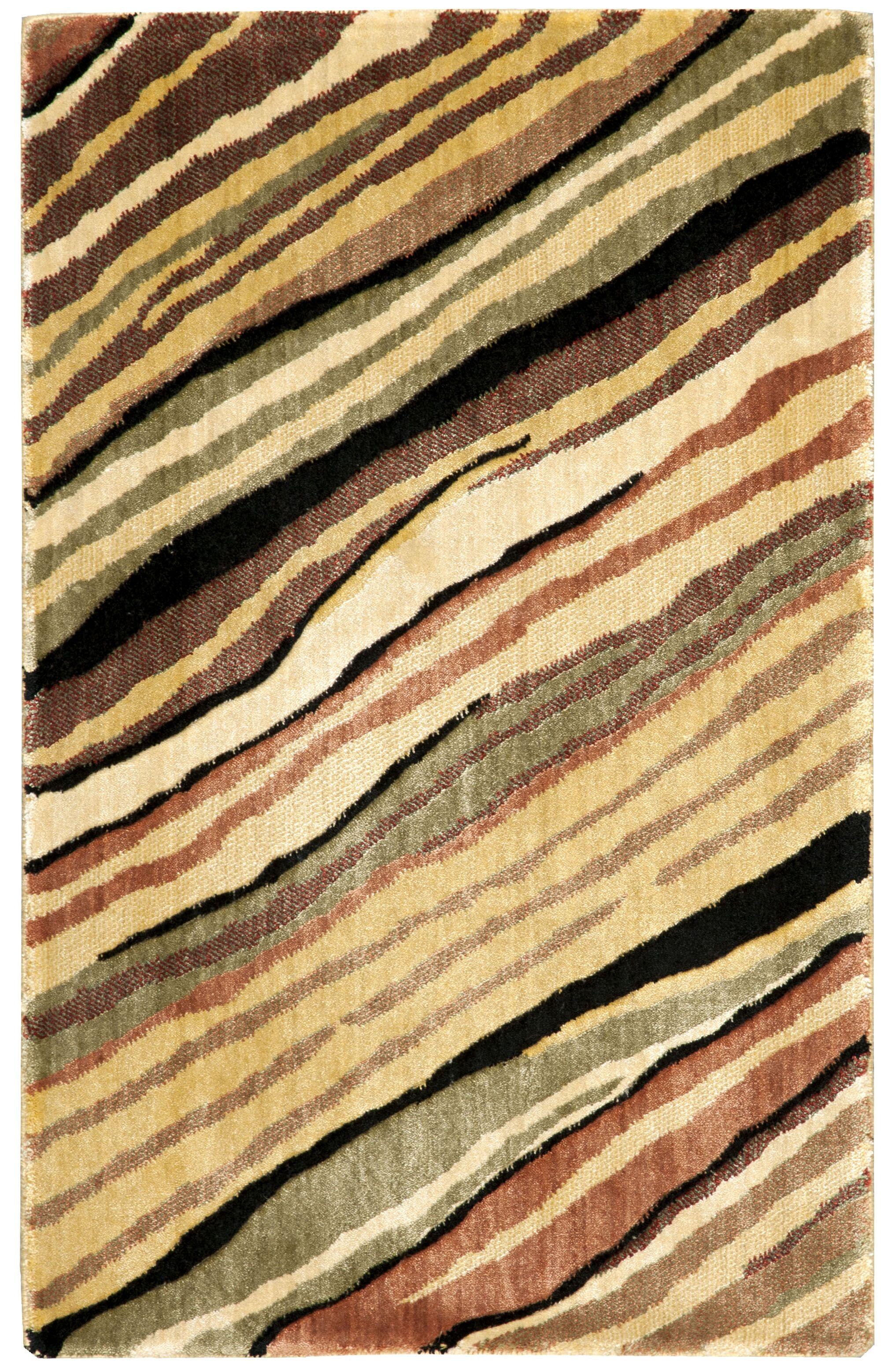 Annelise Yellow Area Rug Rug Size: Rectangle 5'6