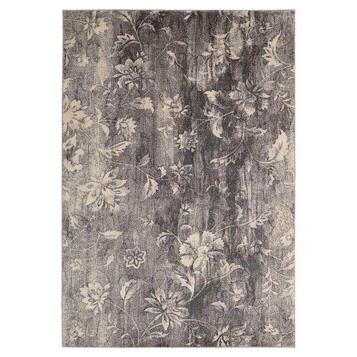 Tien Ivory/Slate Area Rug Rug Size: Rectangle 5'3