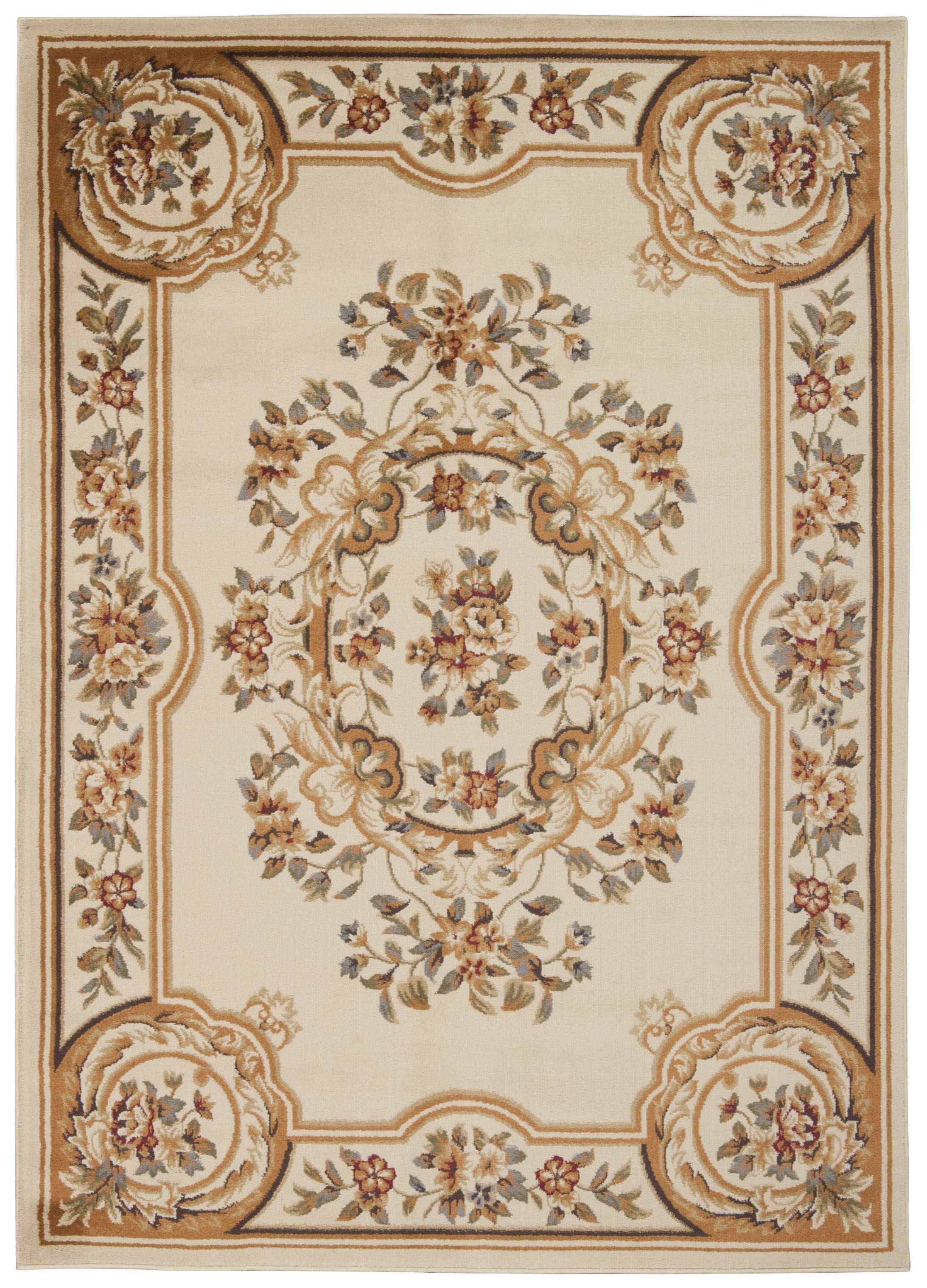 Lukeson Beige Area Rug Rug Size: Rectangle 5'3