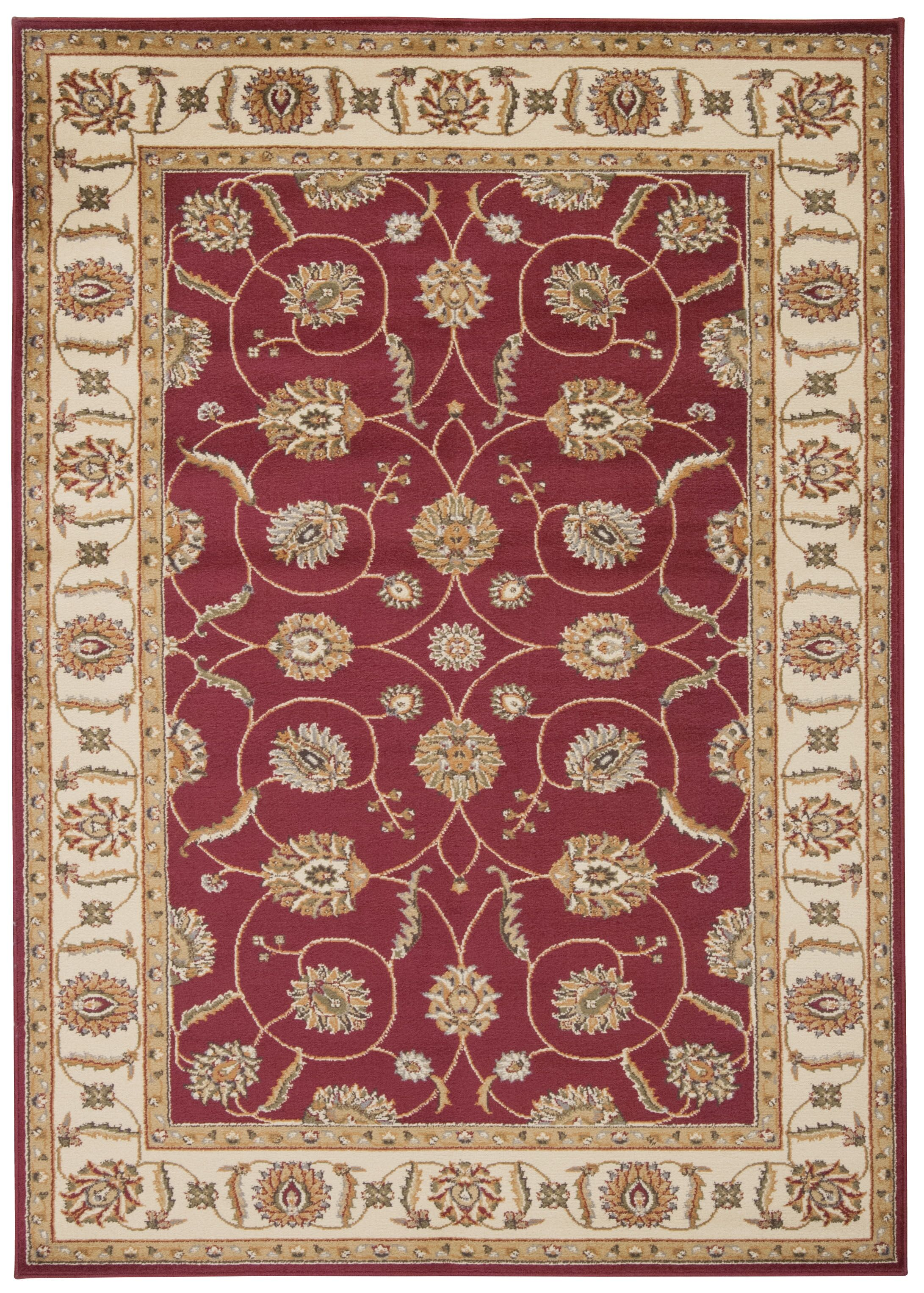 Lukeson Red Area Rug Rug Size: Rectangle 7'10
