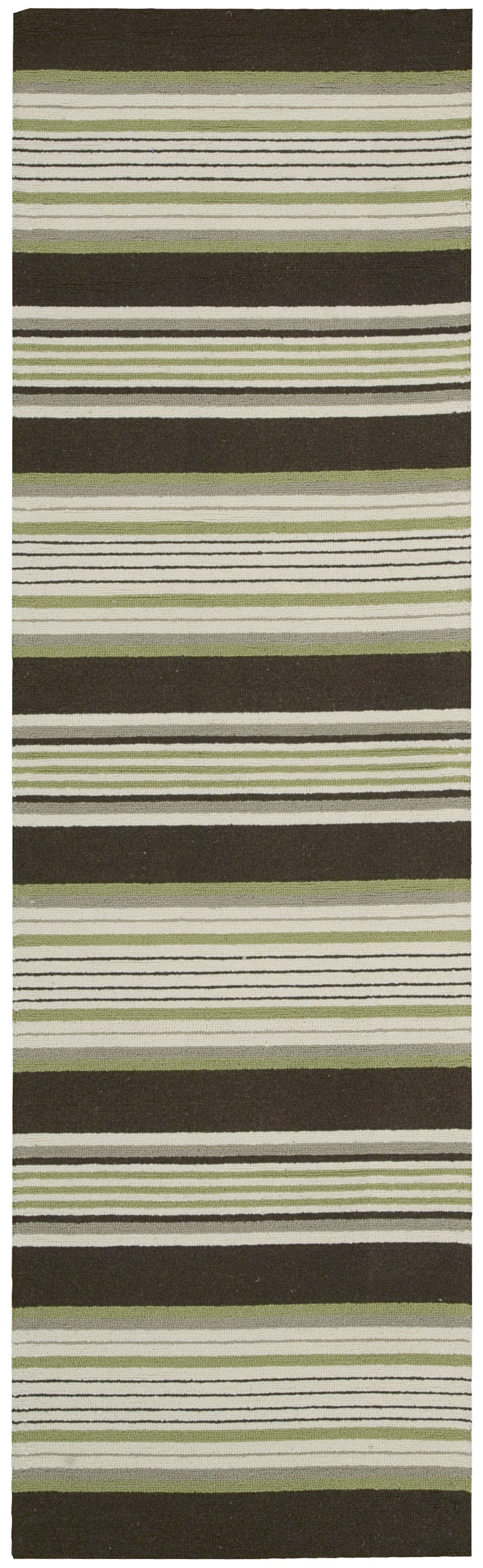 Biddeford Hand-Hooked Green Area Rug Rug Size: Rectangle 3'6