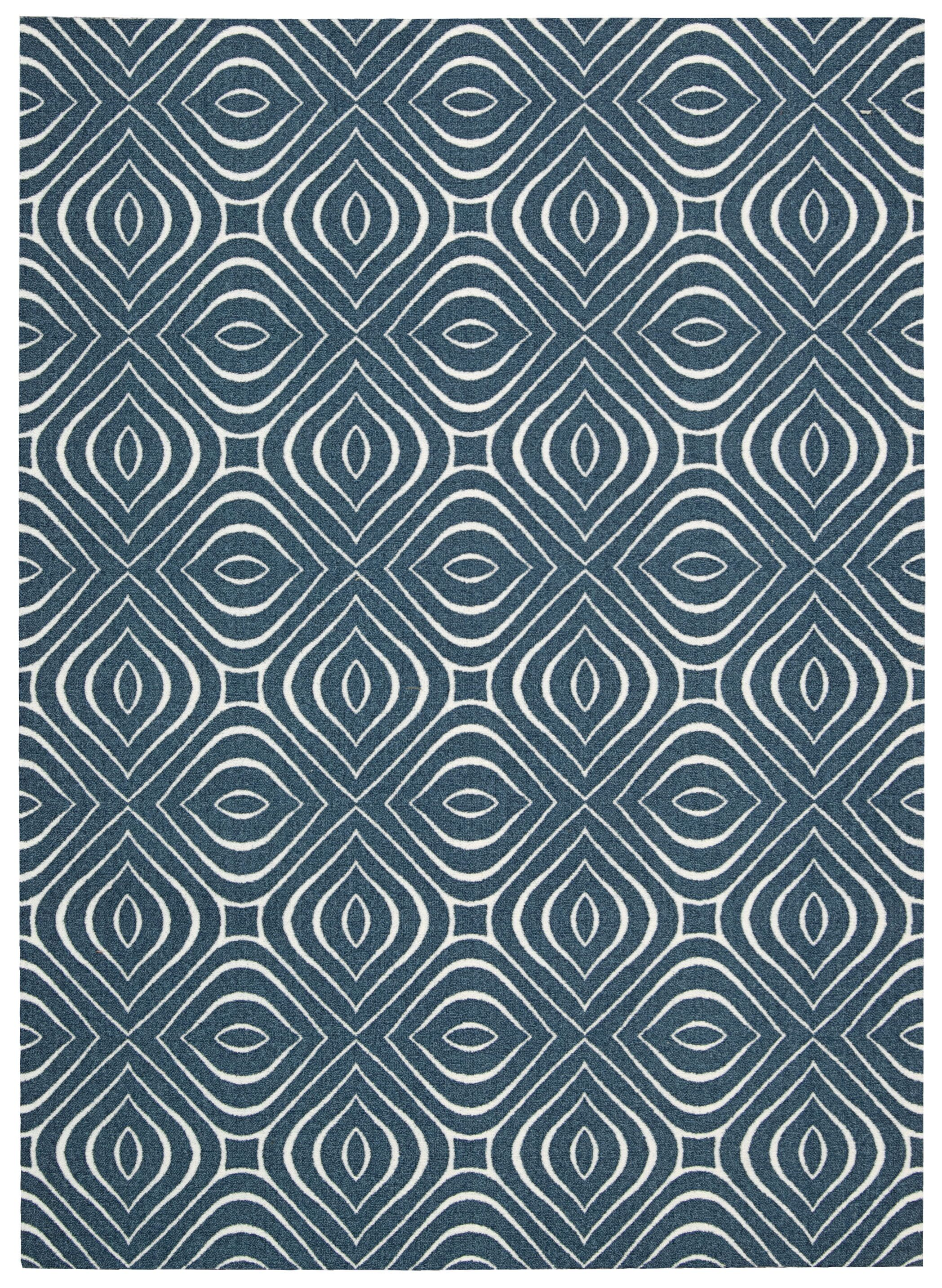 Conforti Cadet  Blue Geometric Area Rug Rug Size: Rectangle 4' x 6'