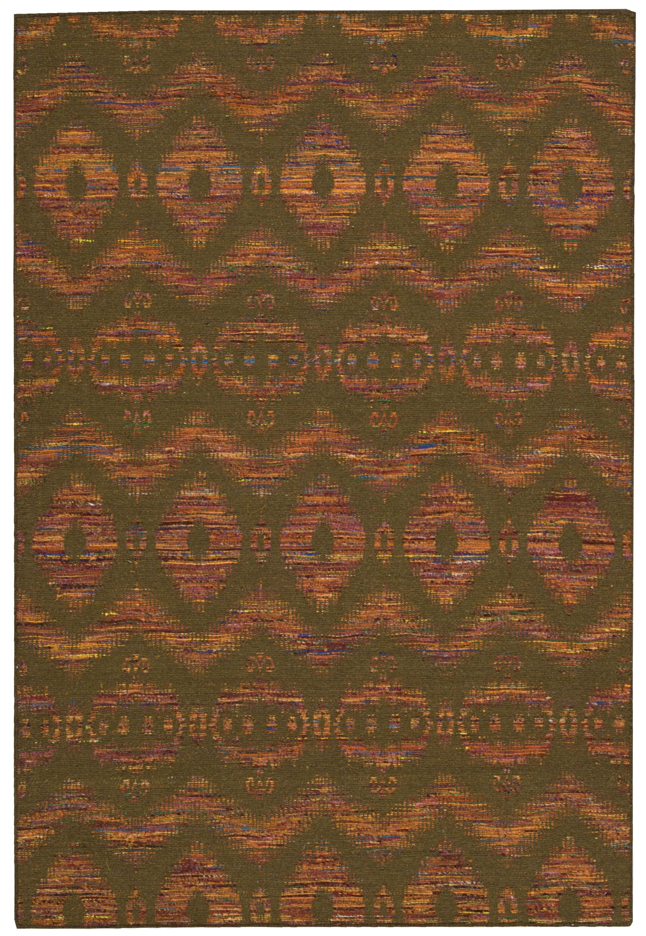 Pine Grove Hand-Woven Flame/Chocolate Area Rug Rug Size: Rectangle 5'3
