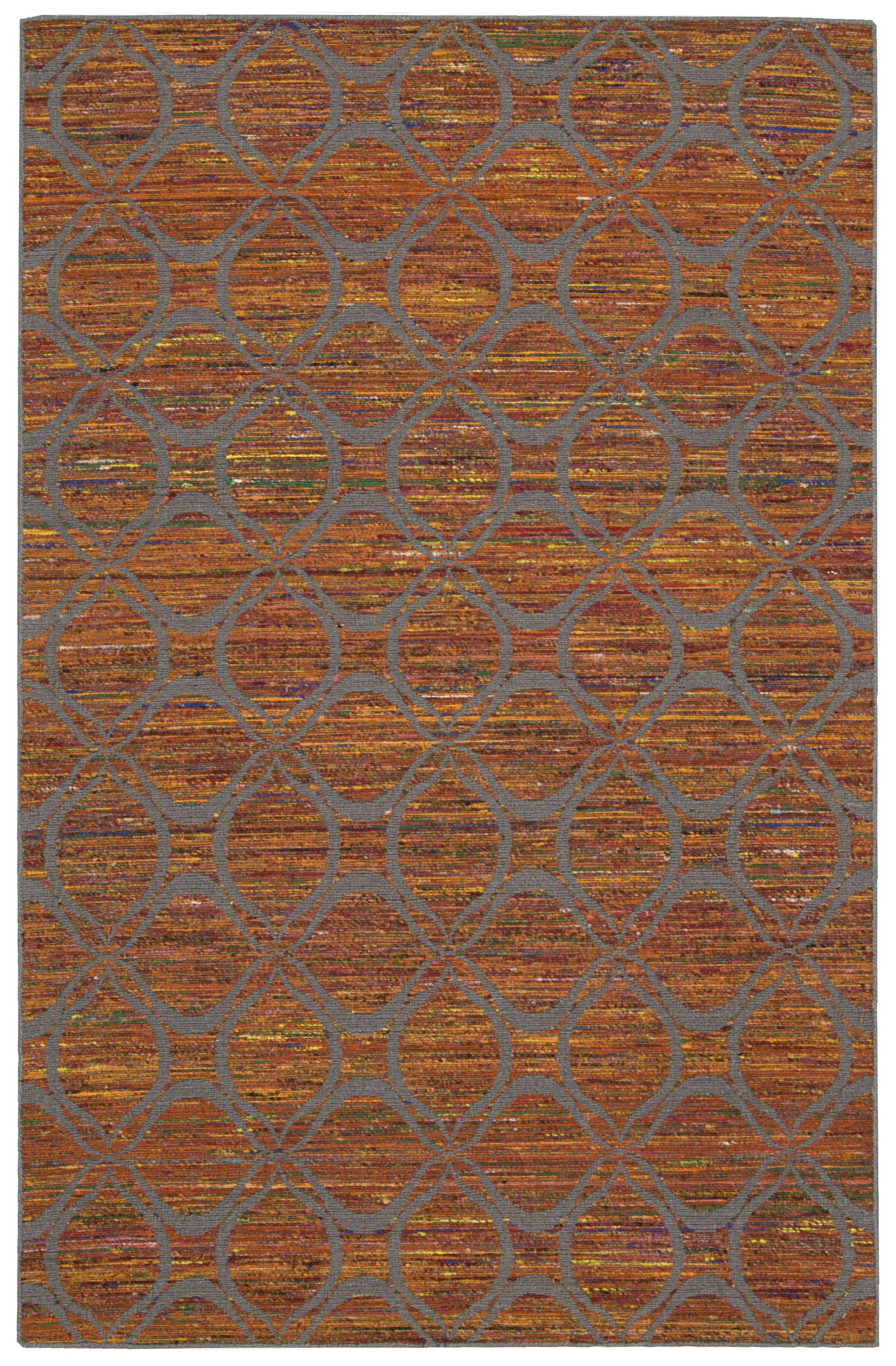 Pine Grove Hand-Woven Flame/Gray Area Rug Rug Size: Rectangle 8' x 10'6