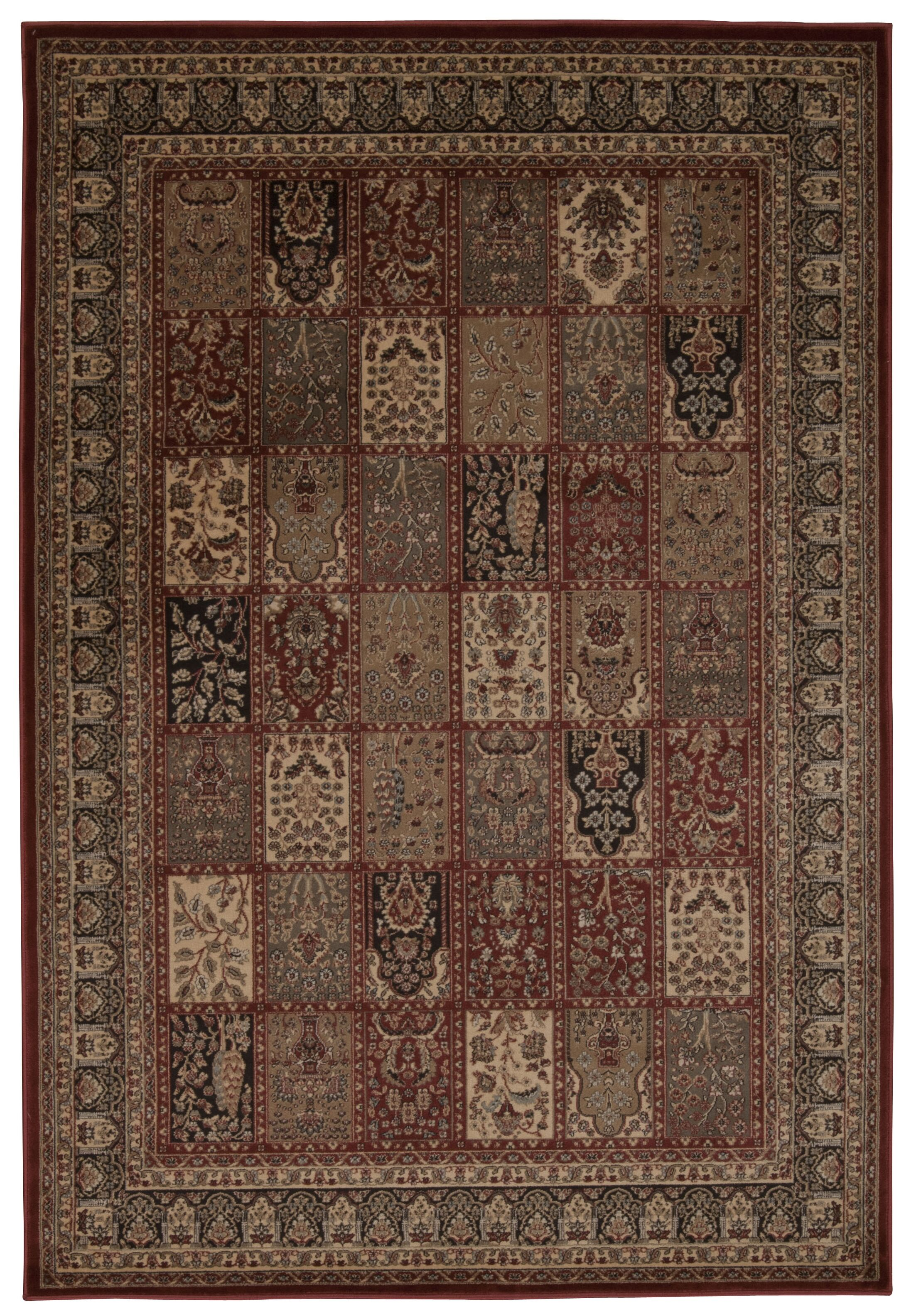 Fernada Burgundy Area Rug Rug Size: Rectangle 9'3
