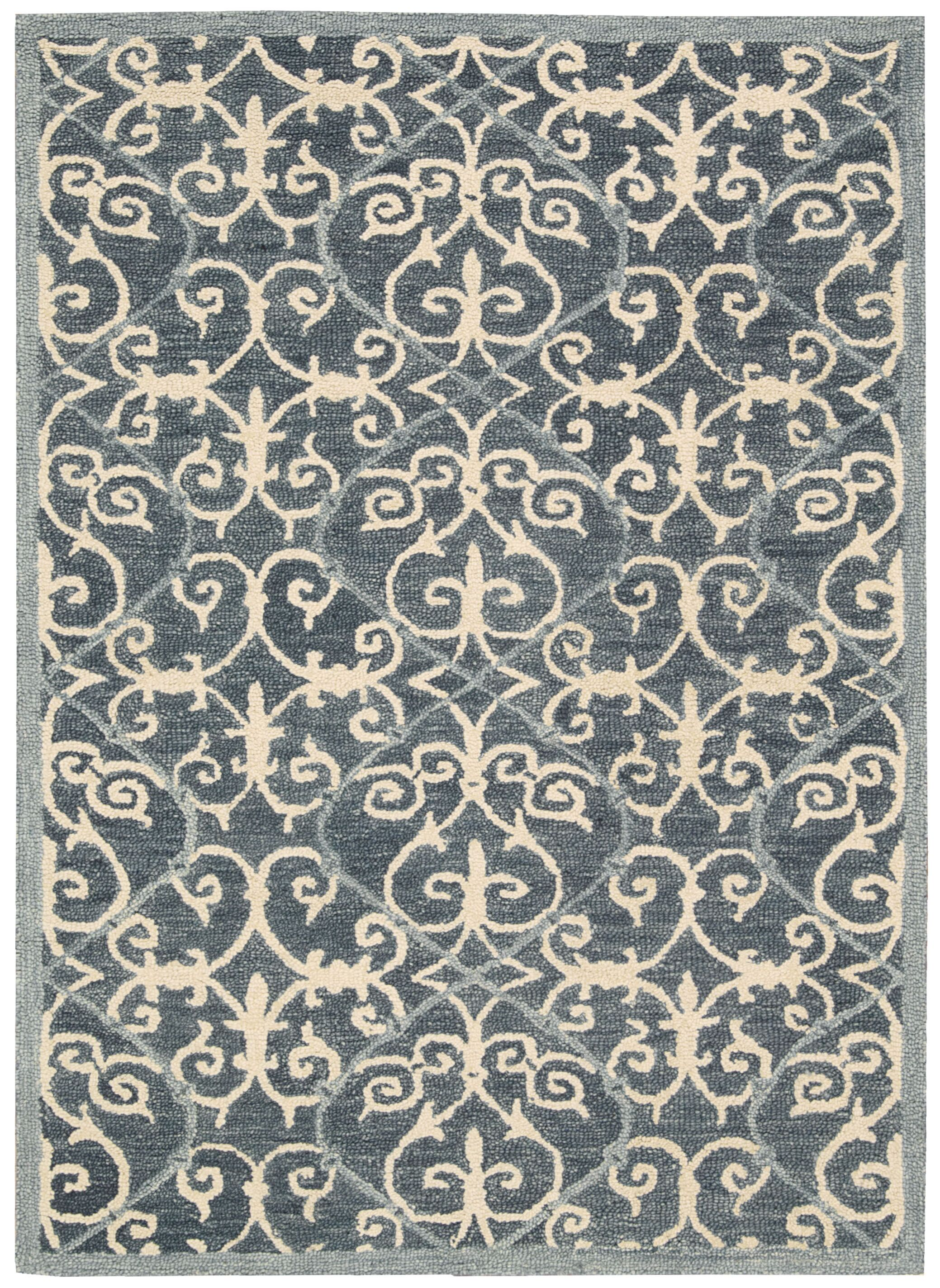 Tracie Hand-Tufted Denim Area Rug Rug Size: Rectangle 5' x 7'6