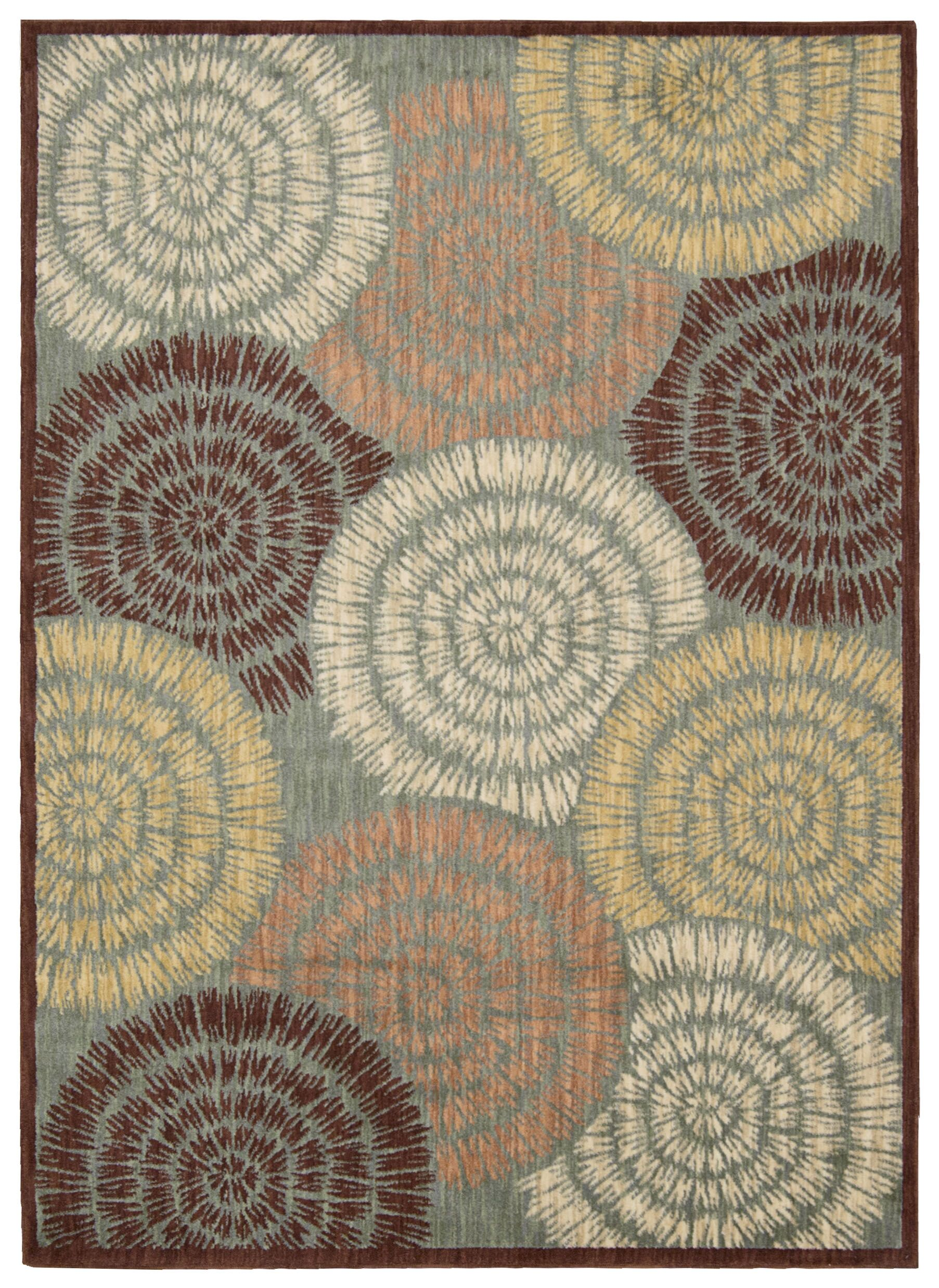 Junaid Brown Area Rug Rug Size: Rectangle 7'9