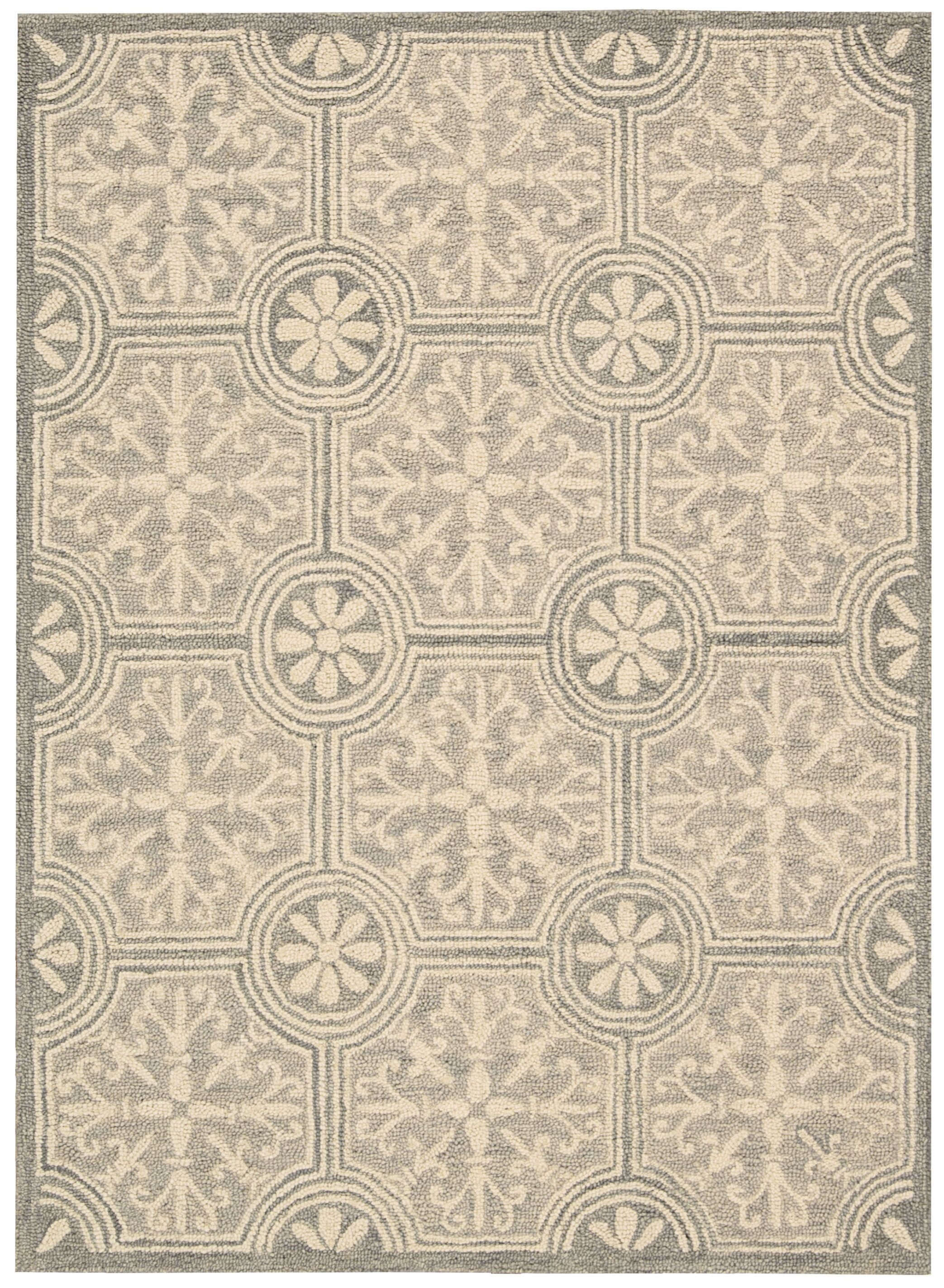 Tracie Hand-Tufted Gray Area Rug Rug Size: Rectangle 5' x 7'6