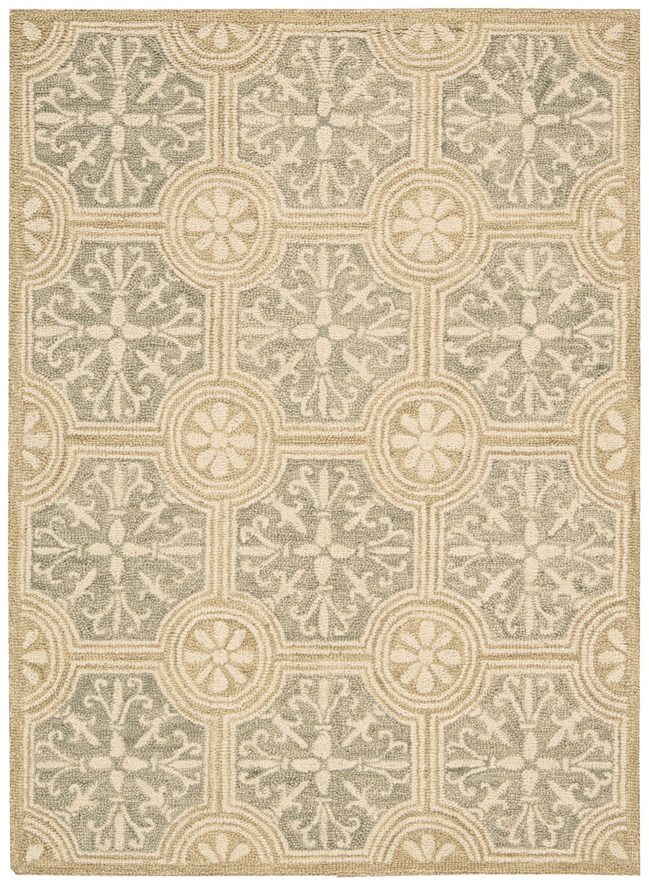 Tracie Hand-Tufted Stone Area Rug Rug Size: Rectangle 5' x 7'6