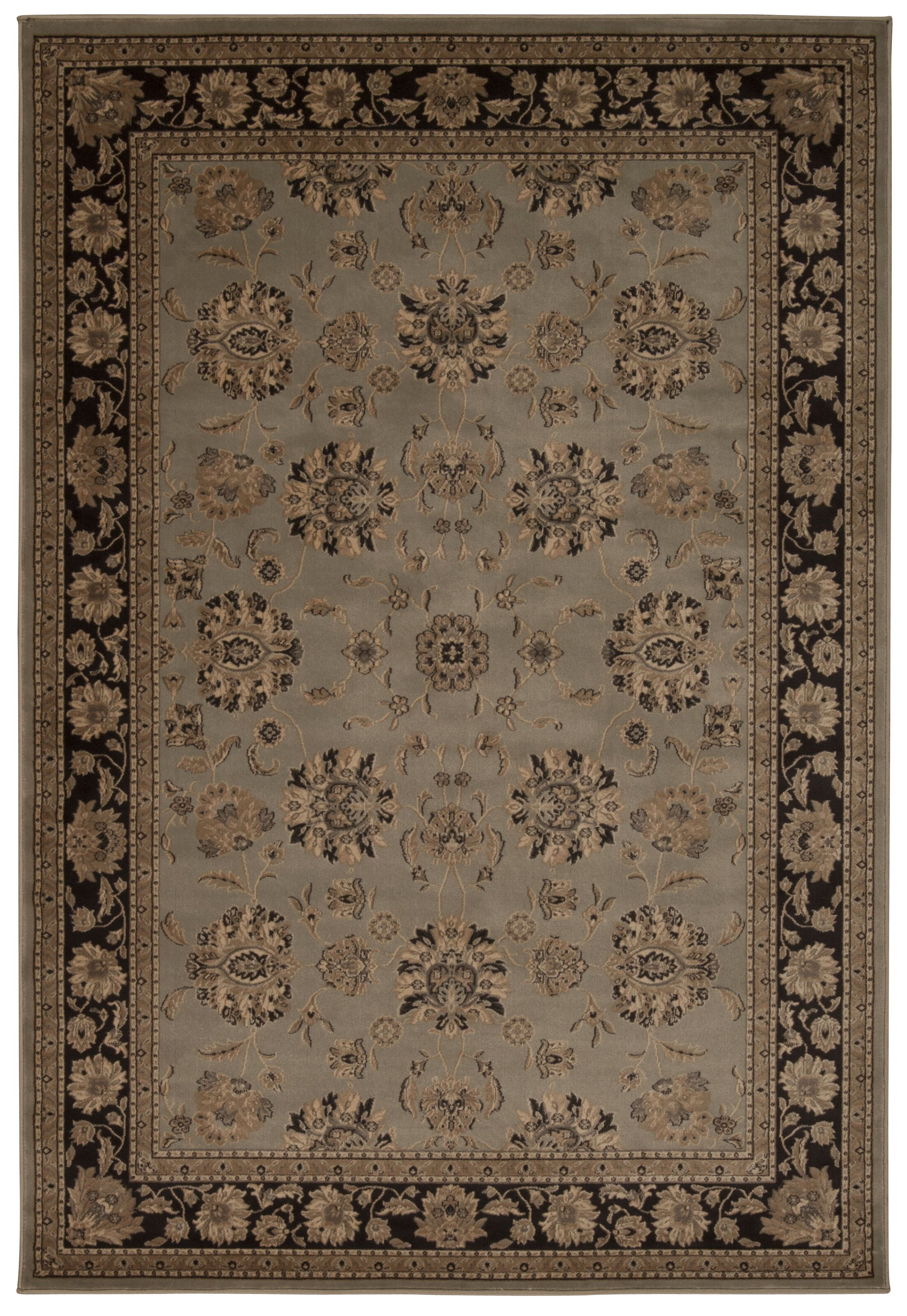 Swenson Gray Oriental Area Rug Rug Size: Rectangle 9'3
