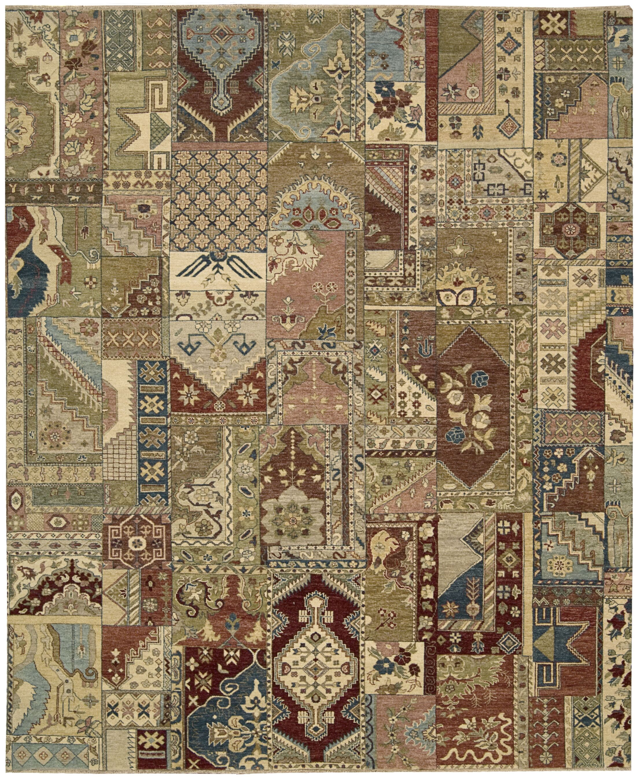 Degory Hand Knotted Multi Area Rug Rug Size: Rectangle 3'9