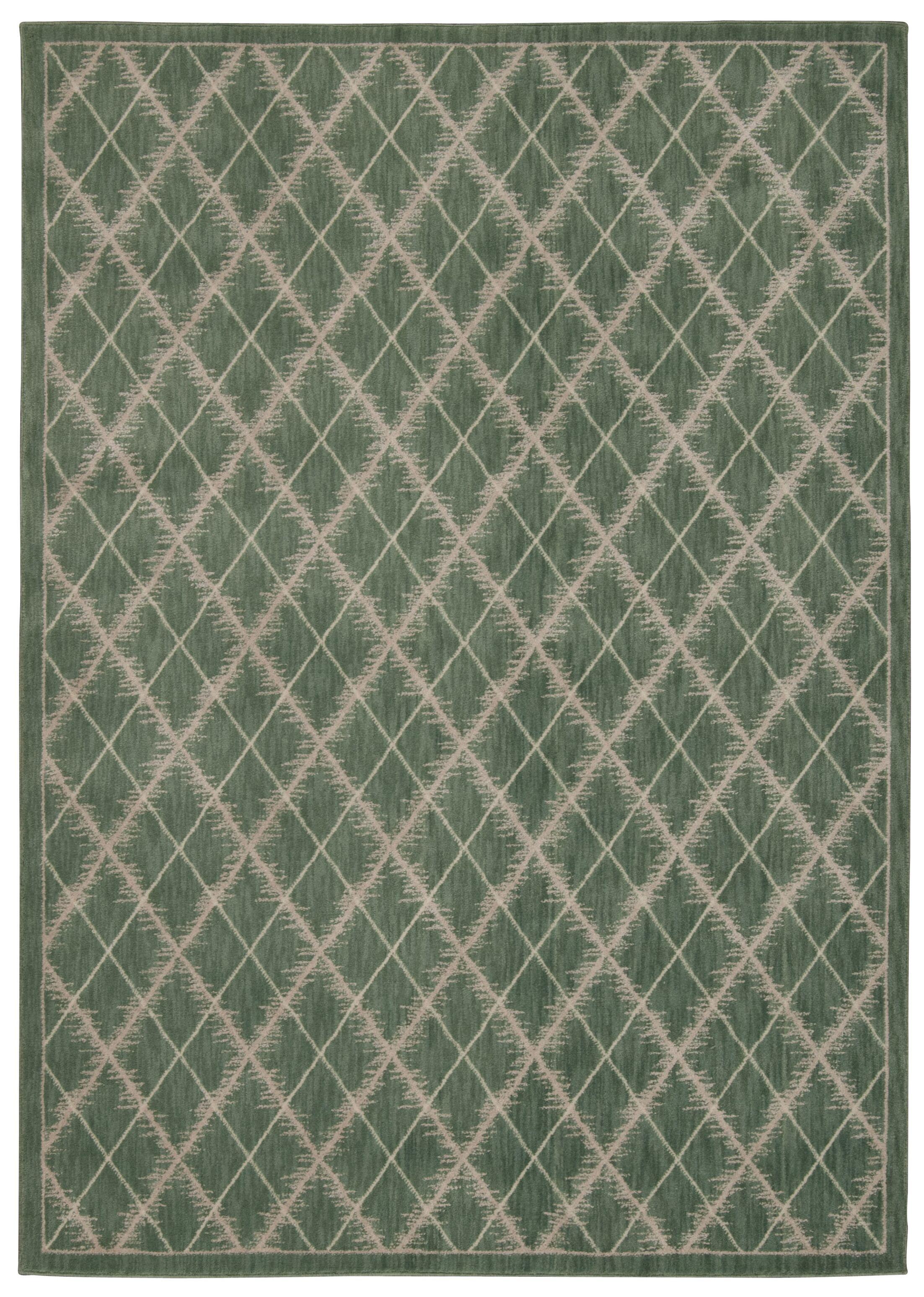Galsworthy Light Green Area Rug Rug Size: Rectangle 5'3