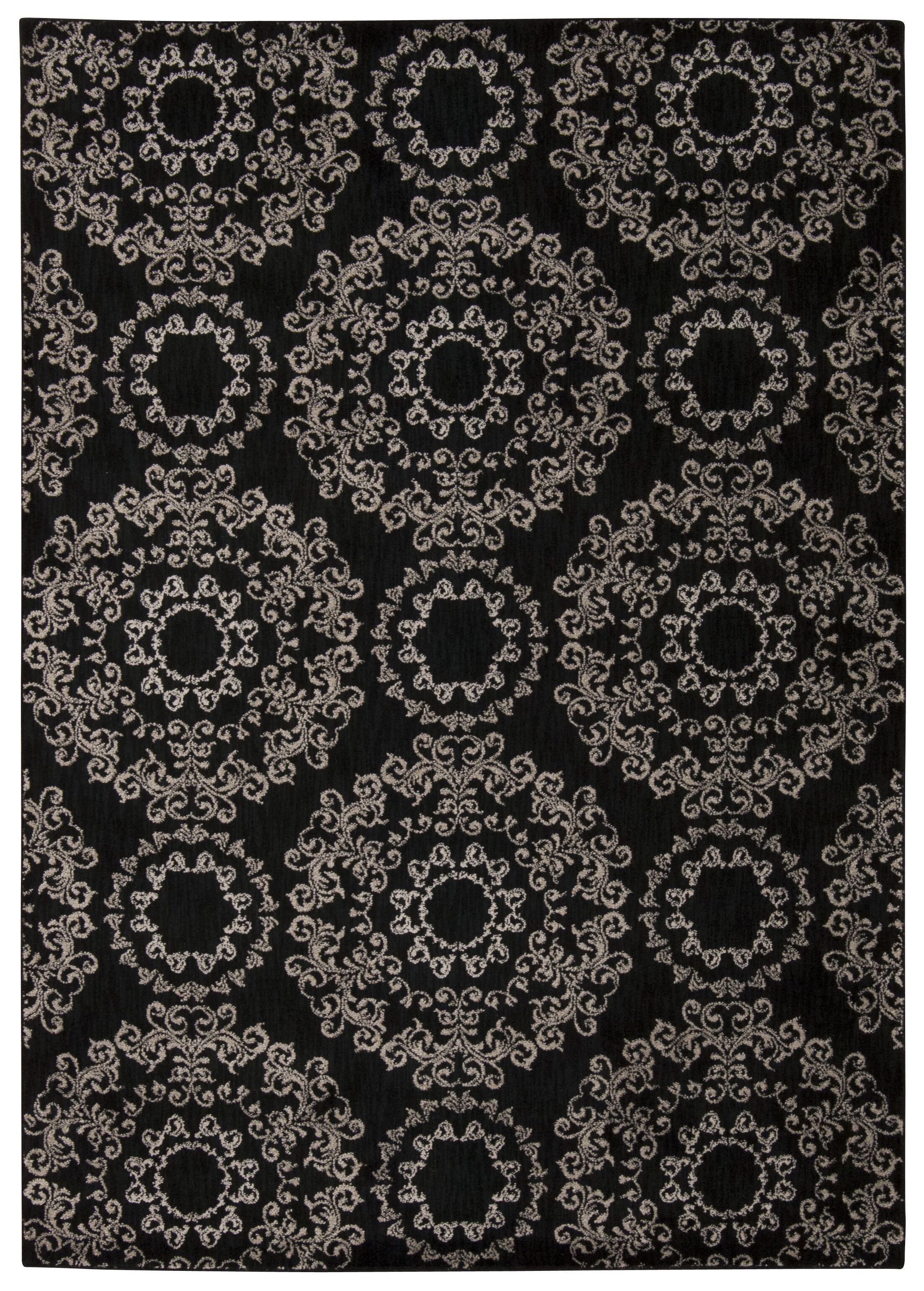 Fonzo Black Area Rug Rug Size: Rectangle 9'3