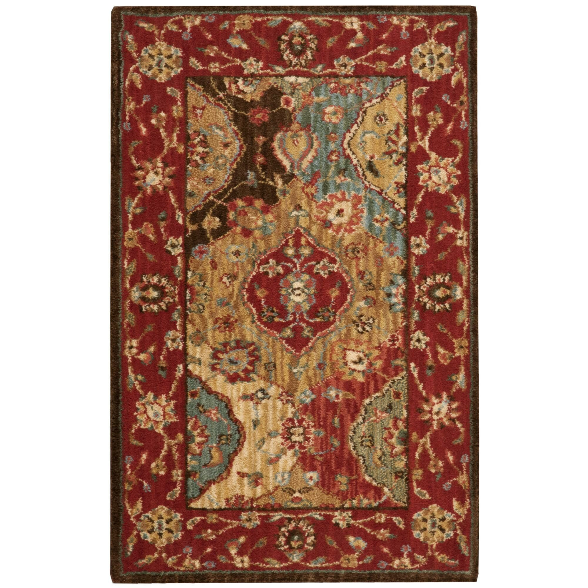 Crownover Wool Red Area Rug Rug Size: Runner 2'6
