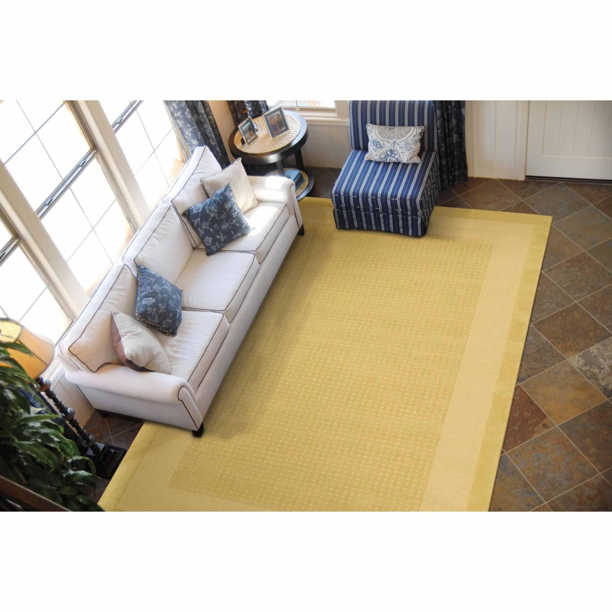 Aspasia Yellow Area Rug Rug Size: Rectangle 8' x 10'6