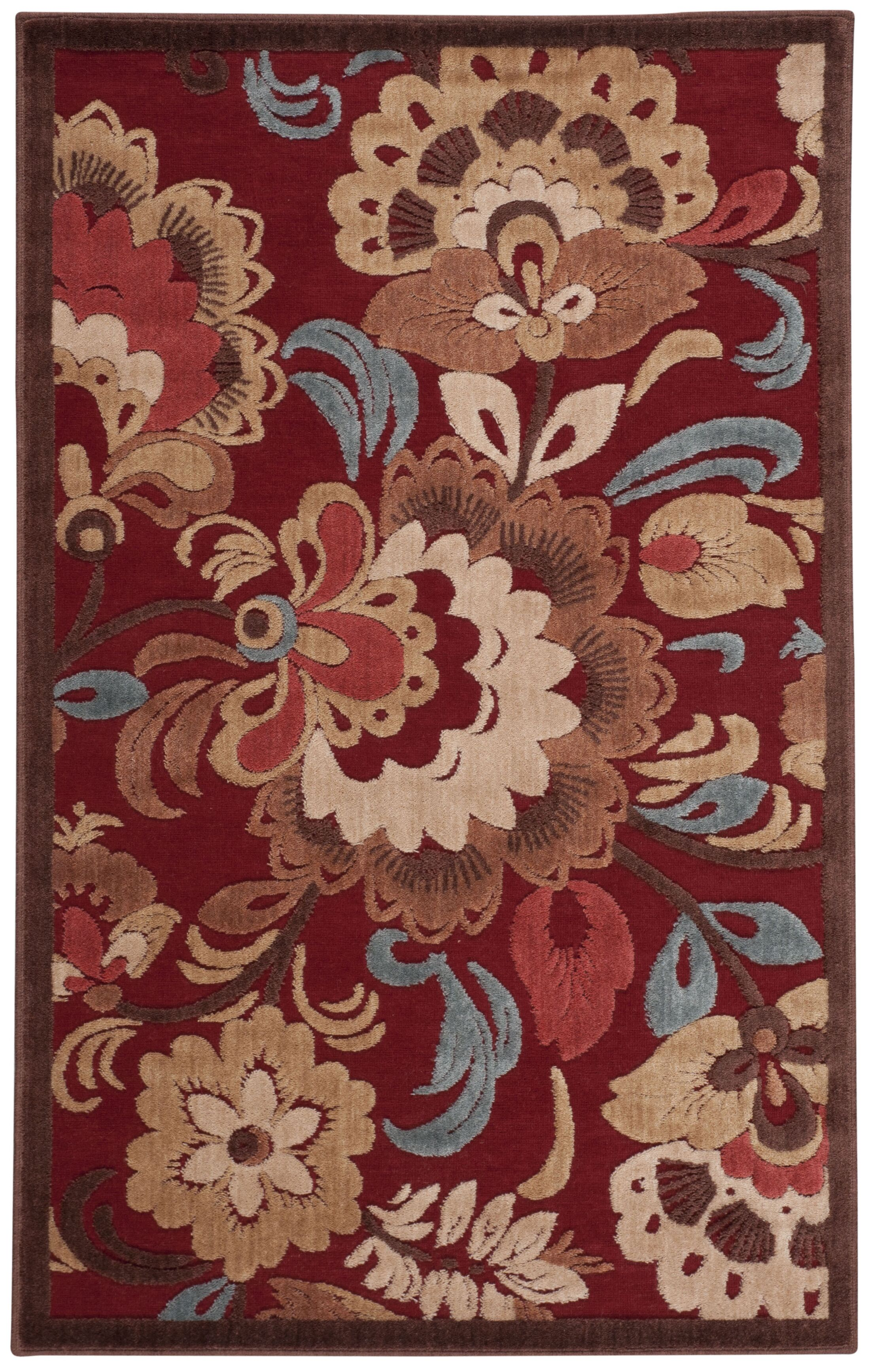 Toi Red Area Rug Rug Size: Rectangle 7'9