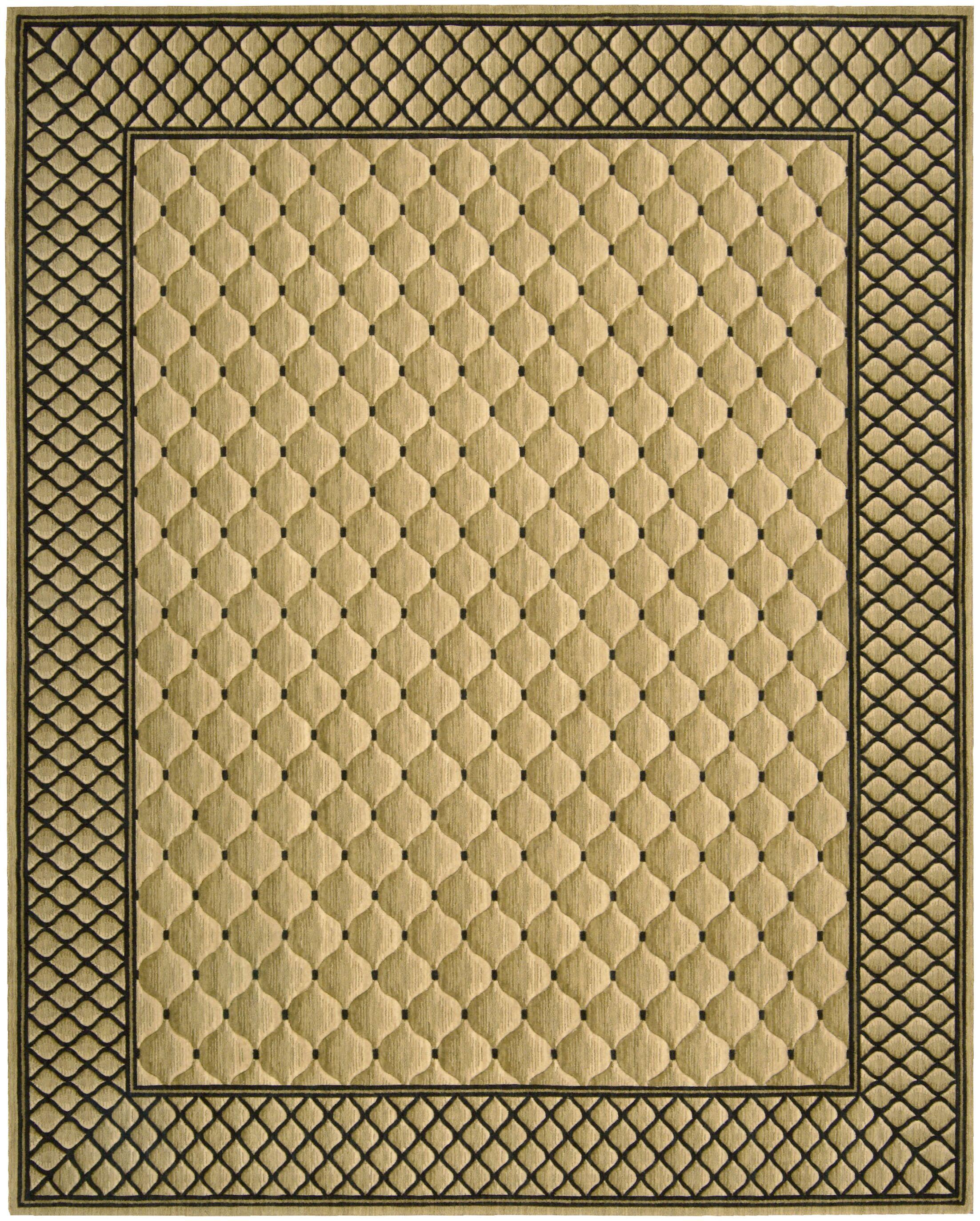Bryn Beige/Black Area Rug Rug Size: Rectangle 5'3