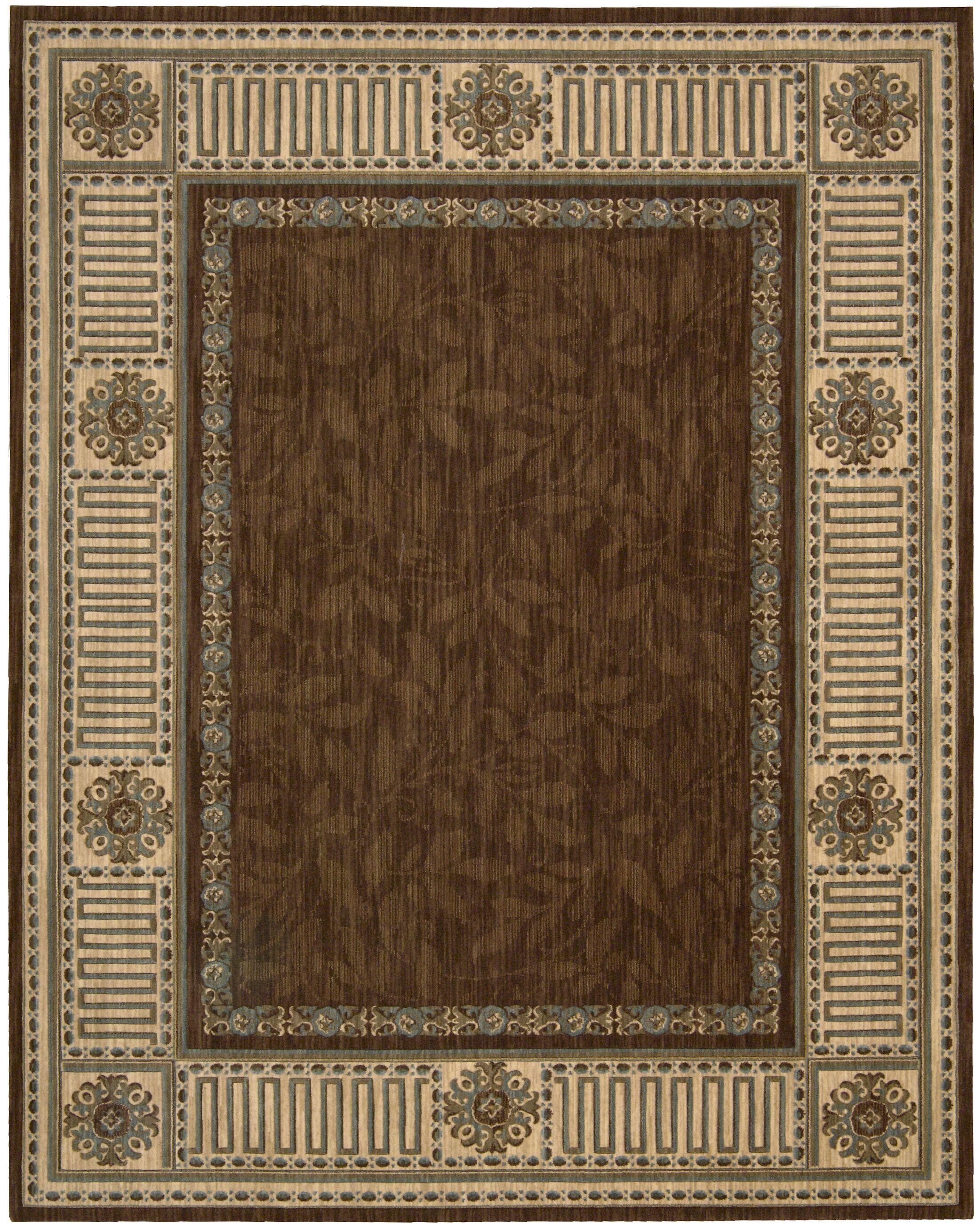 Bryn Brown Area Rug Rug Size: Octagon 8'