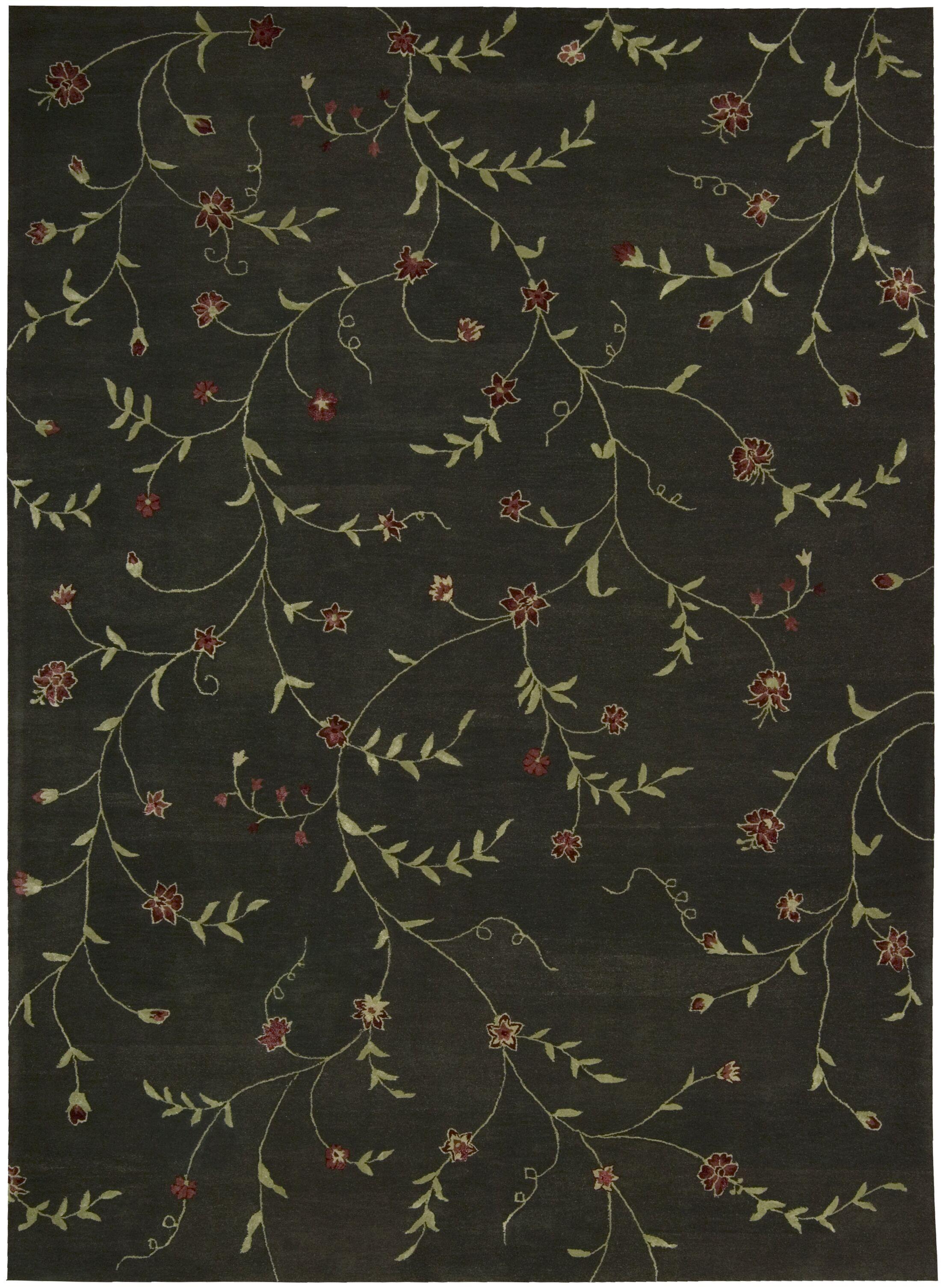 Sherron Black/Teal Rug Rug Size: 8' x 11'