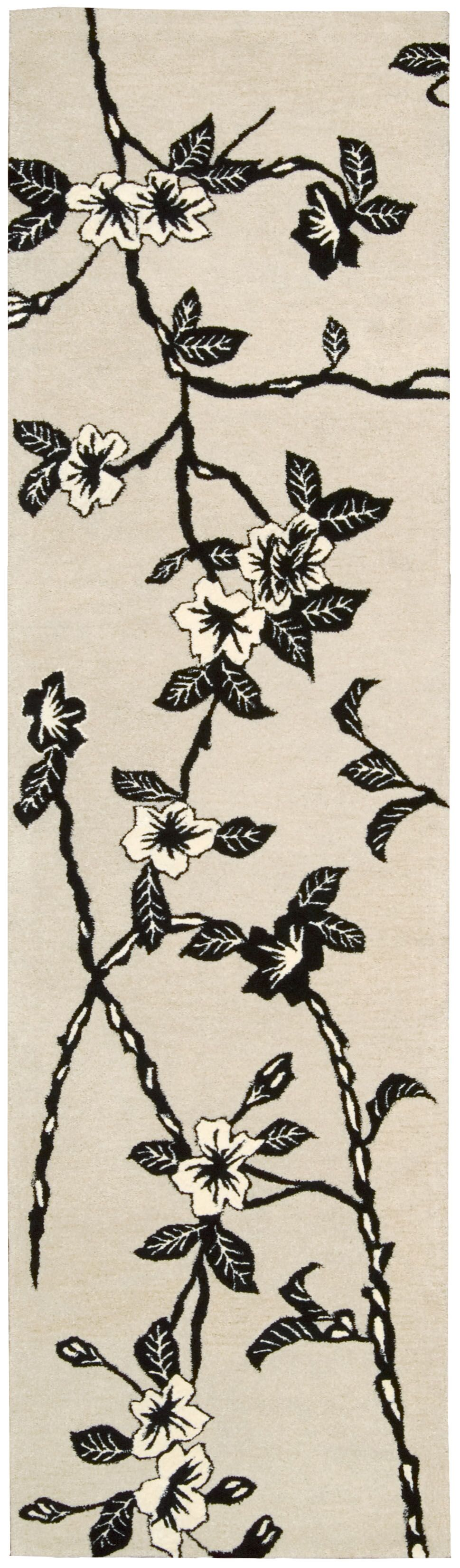 Dupoint Hand-Tufted Black/White Area Rug Rug Size: Runner 2'3