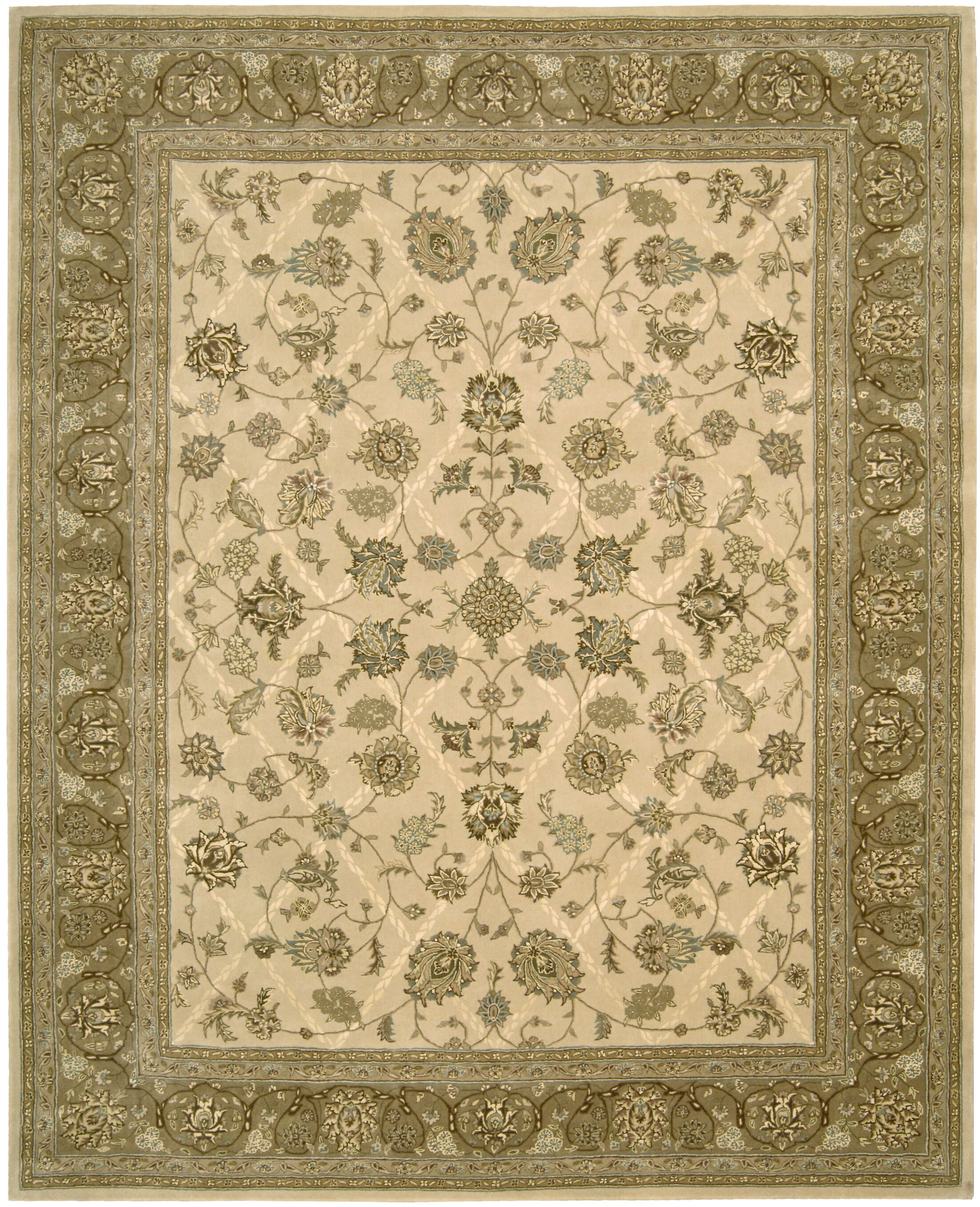 Garson Hand Woven Wool Ivory Indoor Area Rug Rug Size: Rectangle 7'9