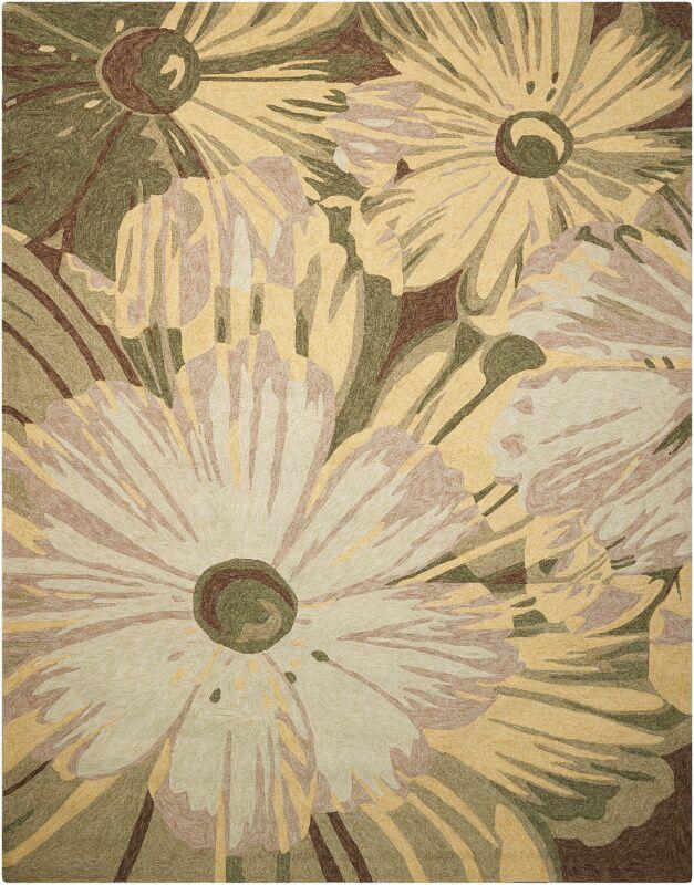 Marge Hand-Woven Beige/Green Indoor/Outdoor Area Rug Rug Size: Rectangle 10' x 13'