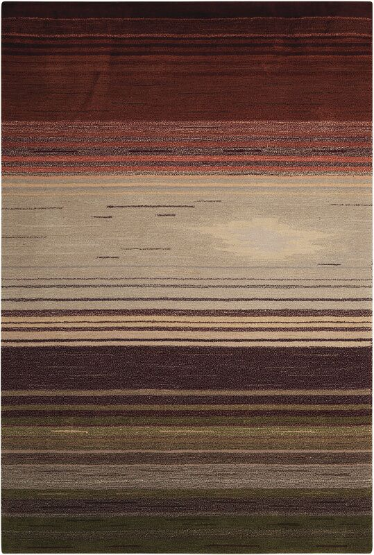 Fenoglio Forest Hand-Tufted Area Rug Rug Size: Rectangle 7'3