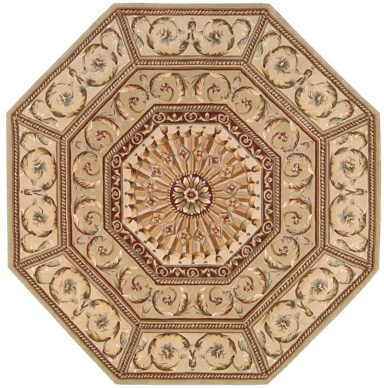 Brownlee Brown/Tan Area Rug Rug Size: Octagon 6'