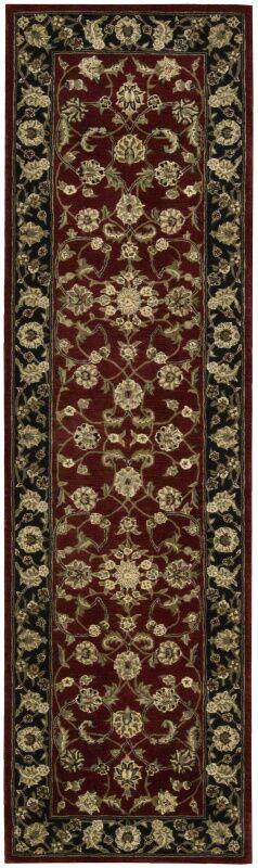 Ellerswick Hand Woven Wool Red/Green Indoor Area Rug Rug Size: Runner 2'6