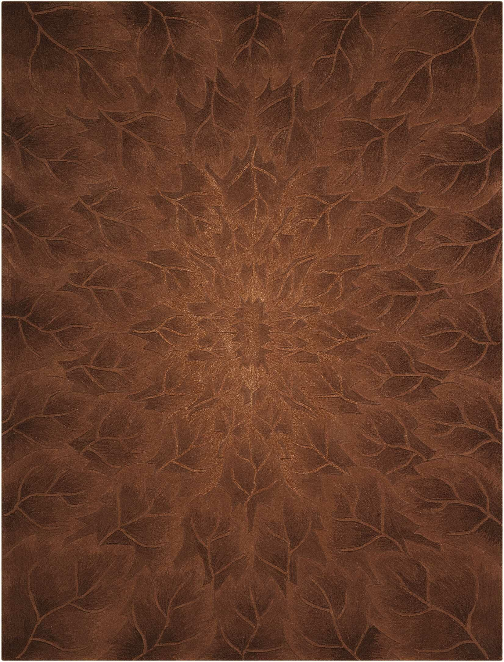 Downing Hand-Tufted Tobacco Area Rug Rug Size: Rectangle 5'6