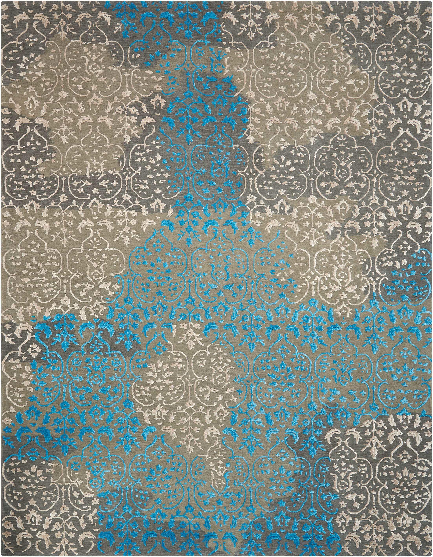 Jayson Highwood Hand-Tufted Charcoal Area Rug Rug Size: Rectangle 9'9