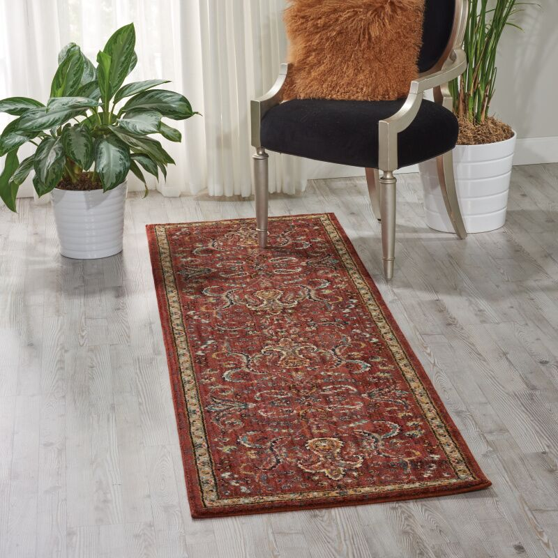 Mainville Red Area Rug Rug Size: Runner 2'3