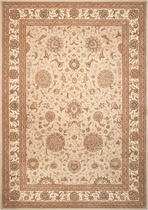 Lyndora Hand Woven Wool Sand Indoor Area Rug Rug Size: Rectangle 5'6