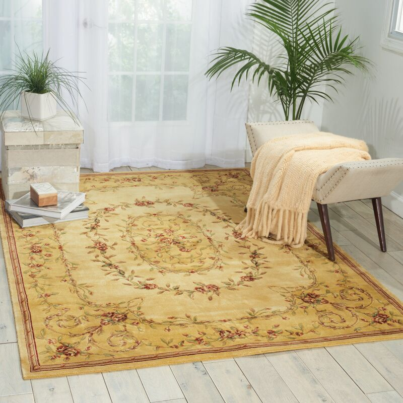 Mickinley Beige Area Rug Rug Size: Rectangle 7'6
