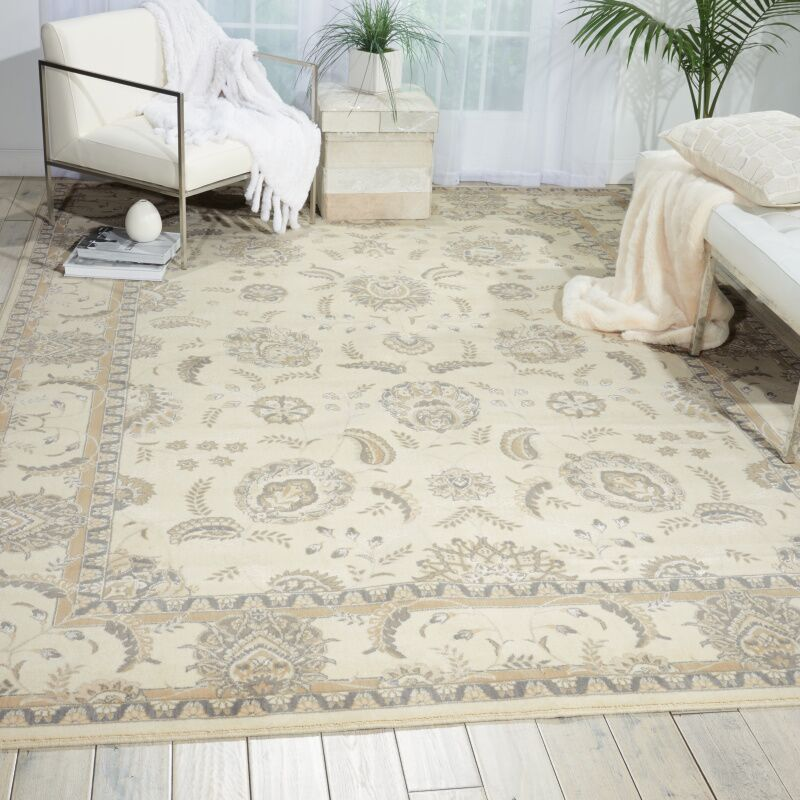 Persian Empire Bone Area Rug Rug Size: Rectangle 12' x 15'